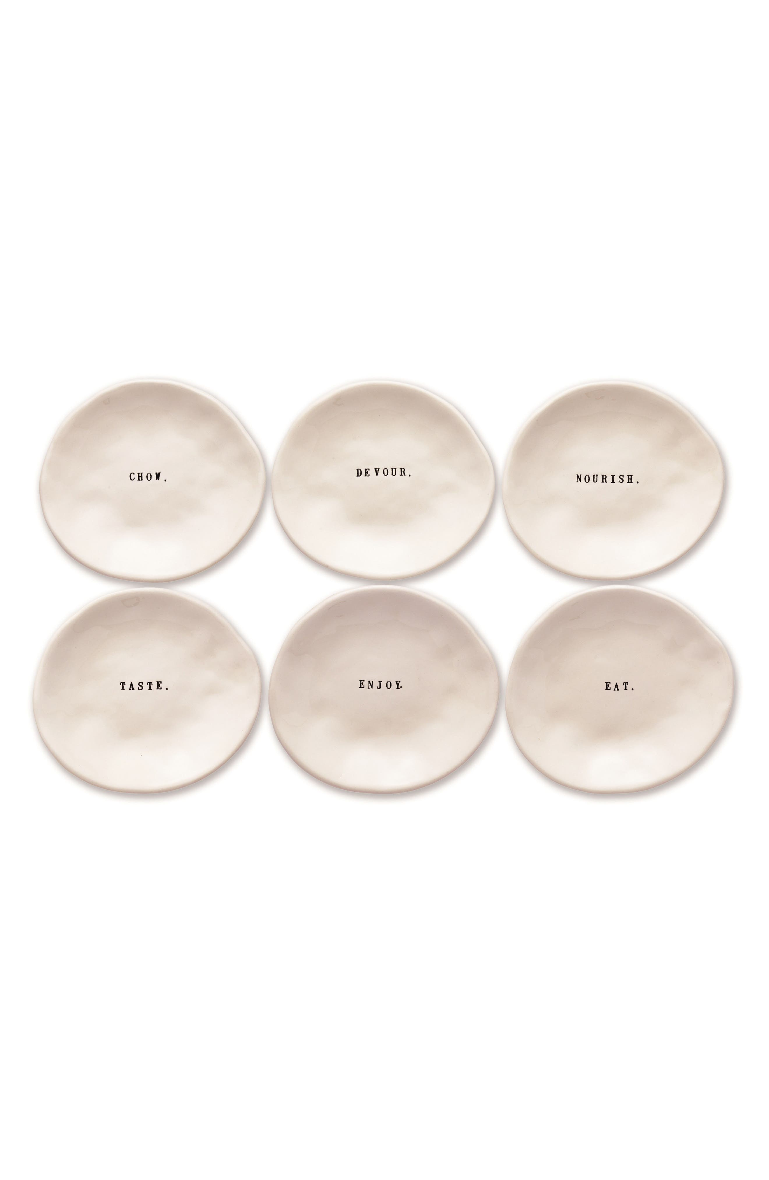 Set of 6 Ceramic Plates,                         Main,                         color, 104