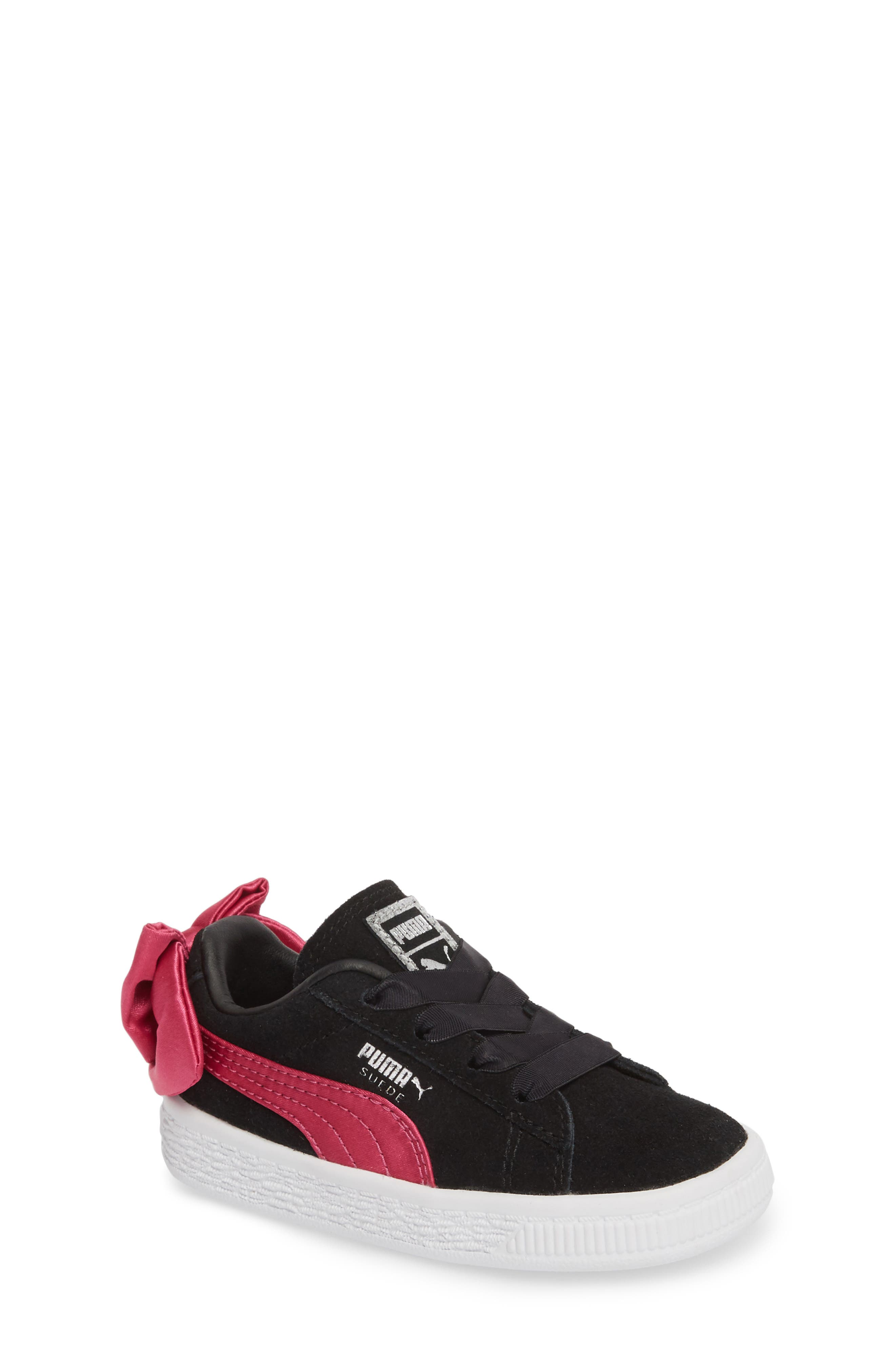 Bow Sneaker,                         Main,                         color, BLACK/ BEETROOT PURPLE