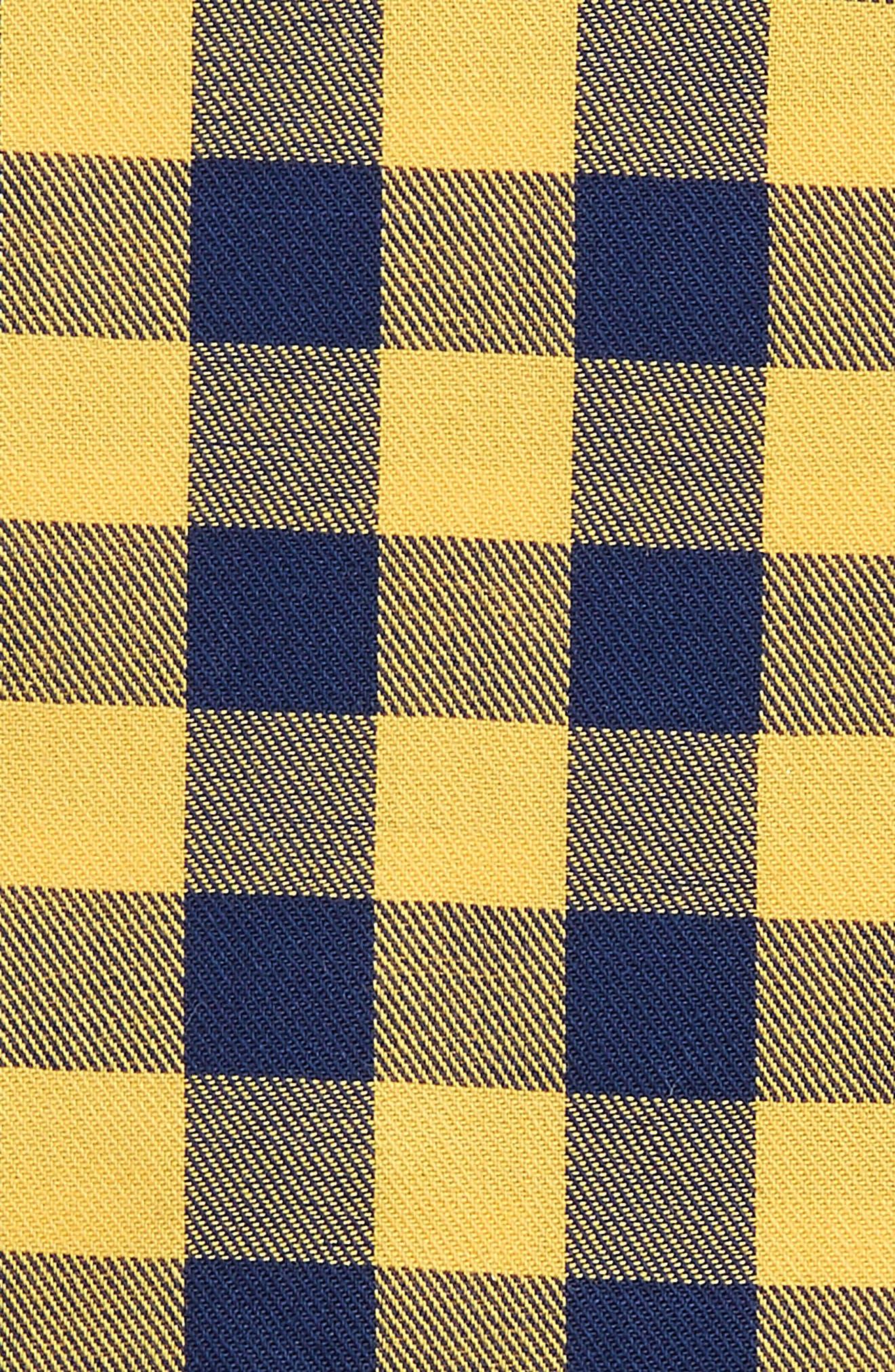 Buffalo Check Cotton Pocket Square,                             Alternate thumbnail 3, color,                             715