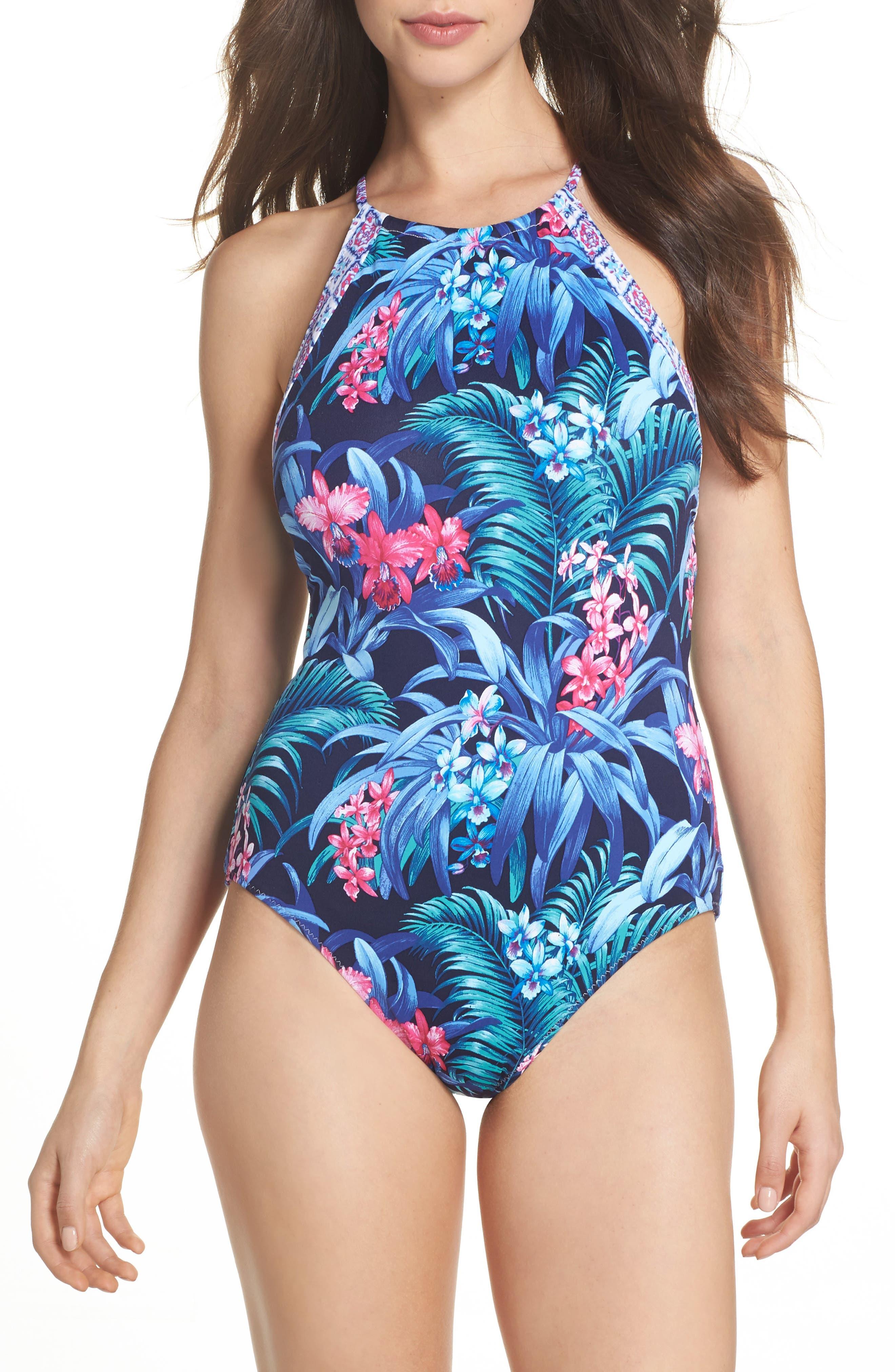 Majorelle Reversible One-Piece Swimsuit,                             Main thumbnail 1, color,                             400