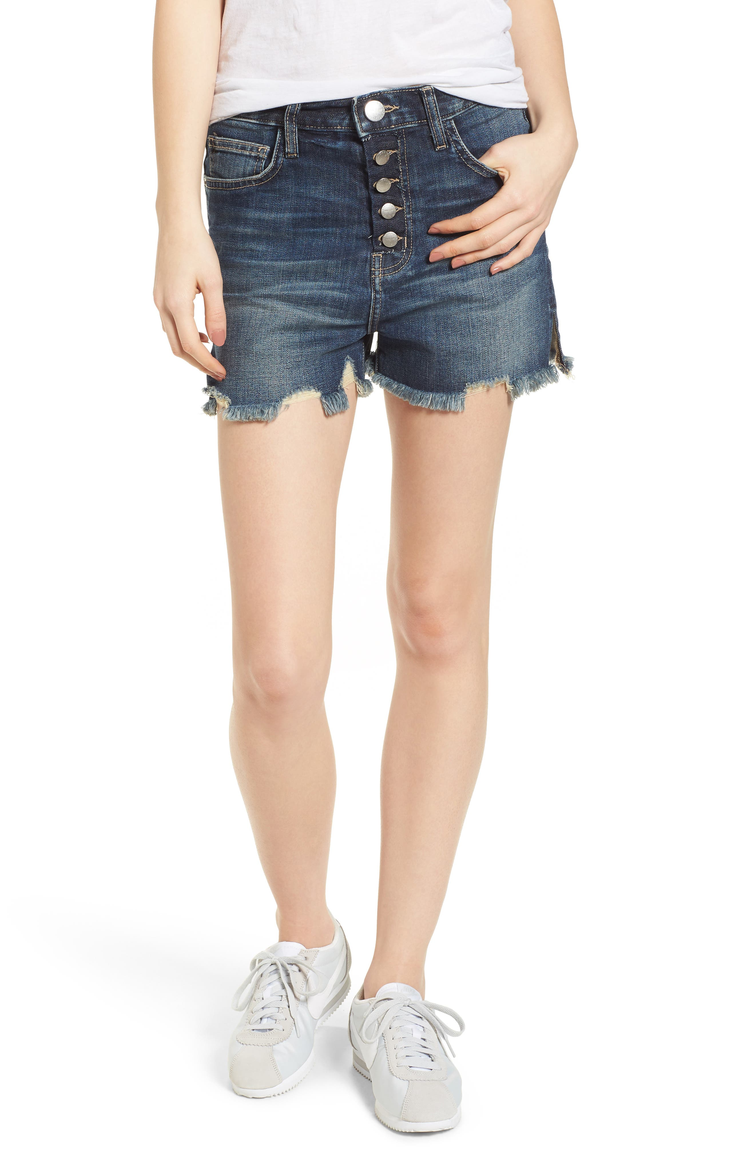 The Ultra High Waist Cutoff Denim Shorts,                             Main thumbnail 1, color,                             490