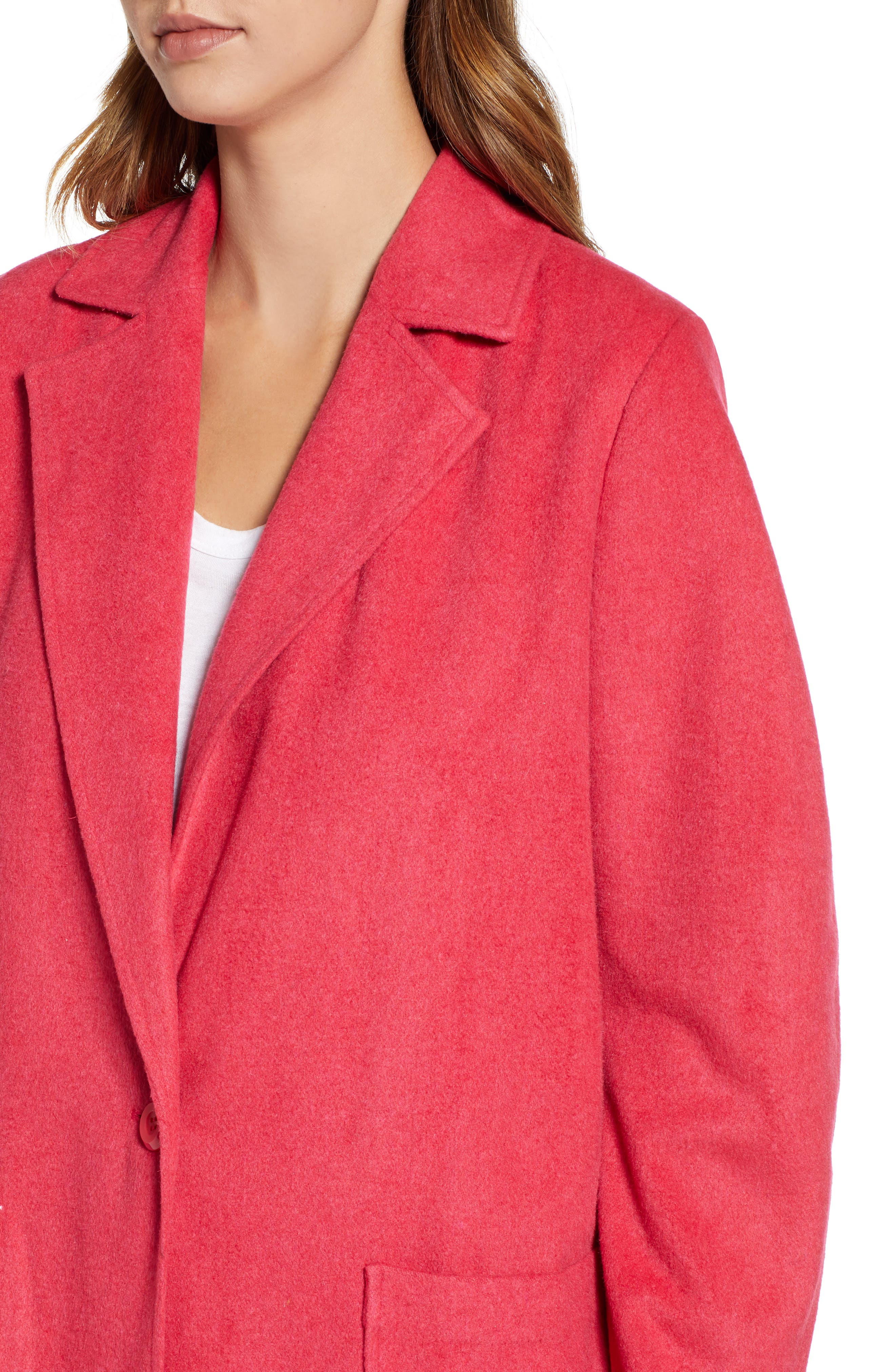 Single Button Long Jacket,                             Alternate thumbnail 4, color,                             651