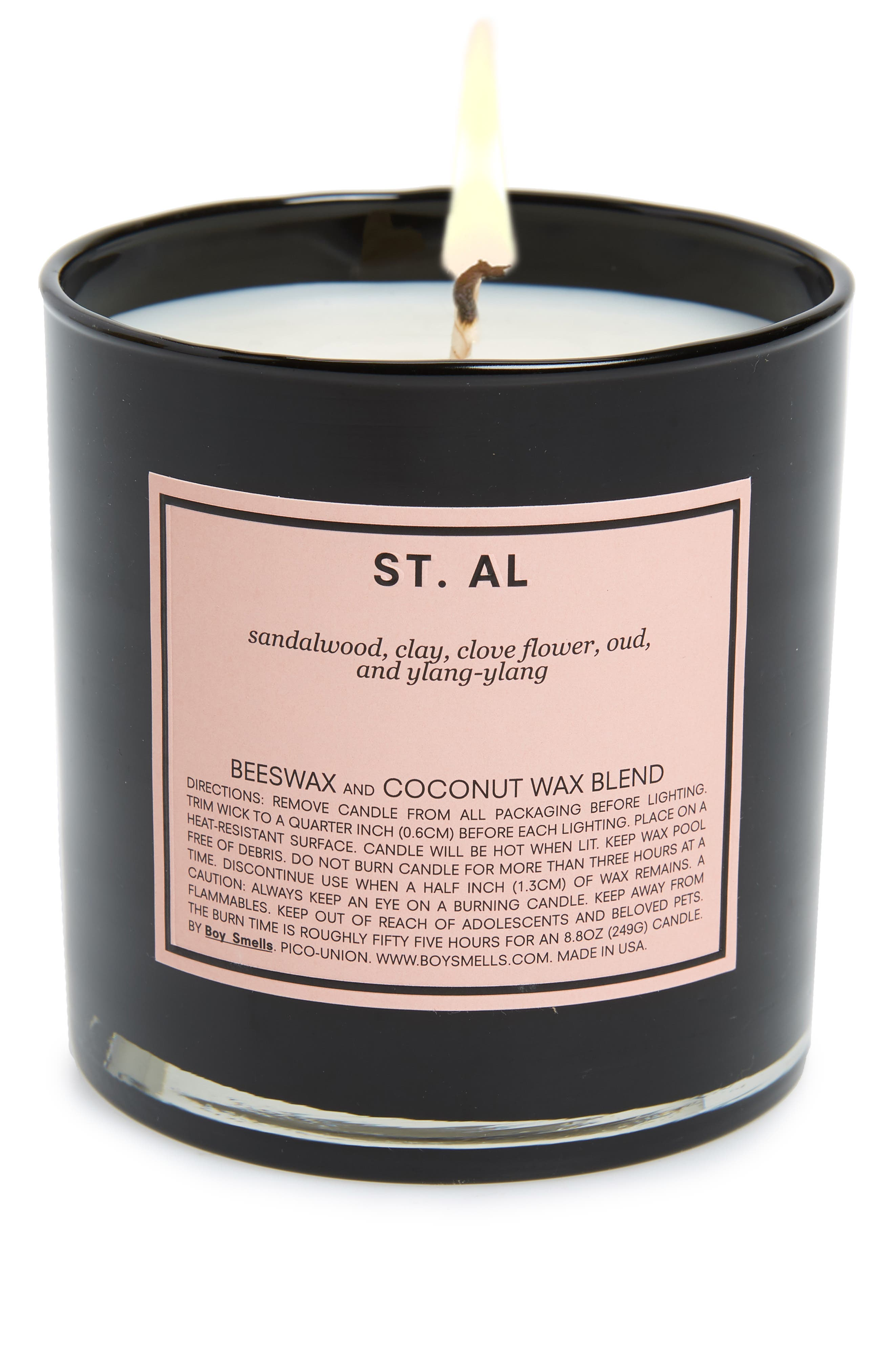 St. Al Scented Candle, Main, color, PINK