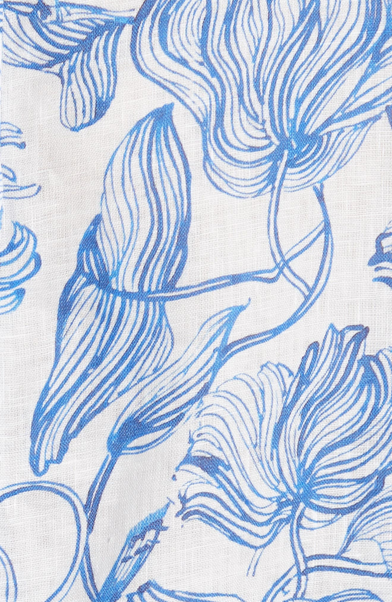 Align Linen Blouse,                             Alternate thumbnail 5, color,                             BLUE