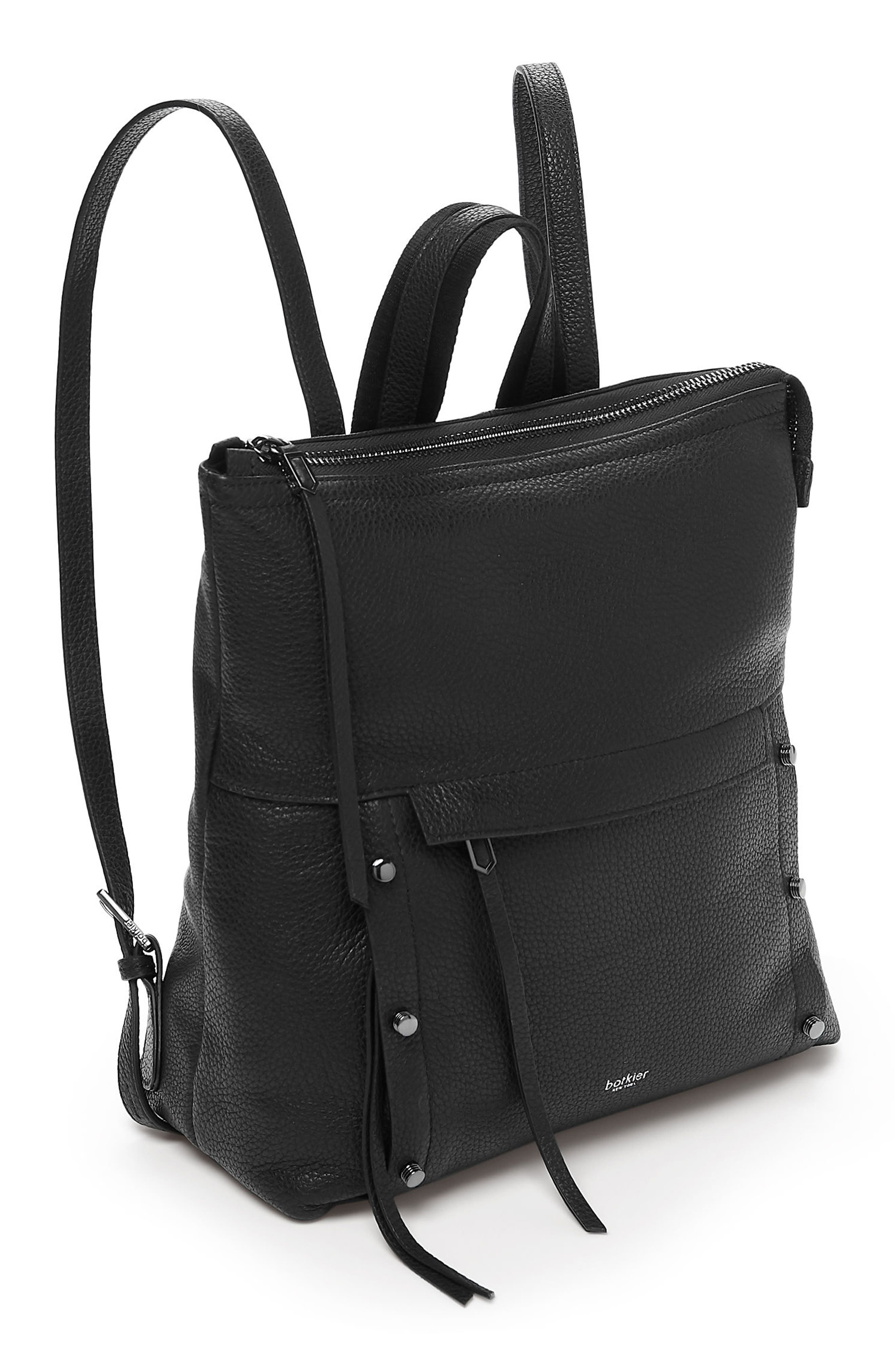 Noho Leather Backpack,                             Alternate thumbnail 4, color,                             002