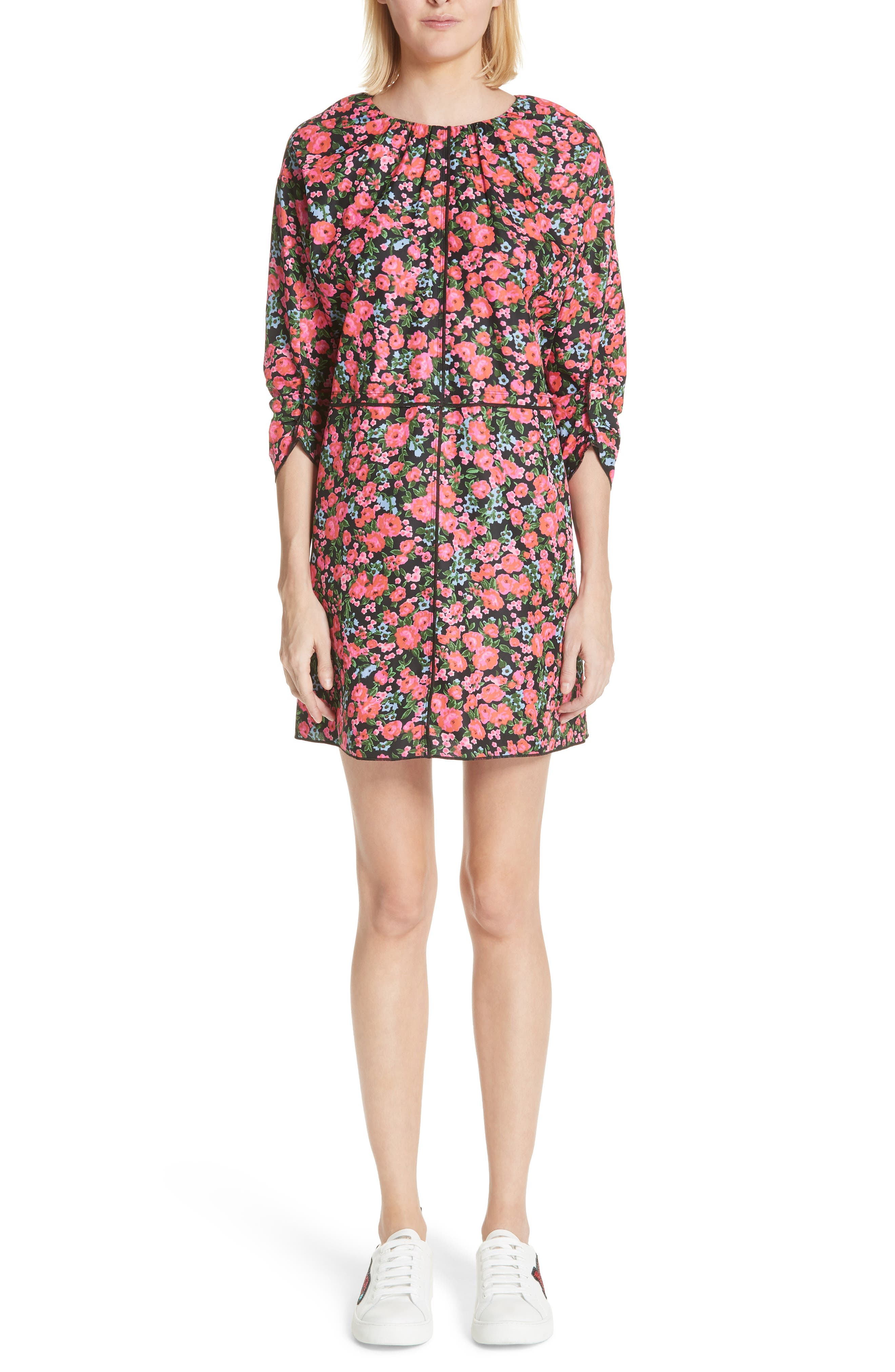 Marc Jacobs Floral Print Dress, Black