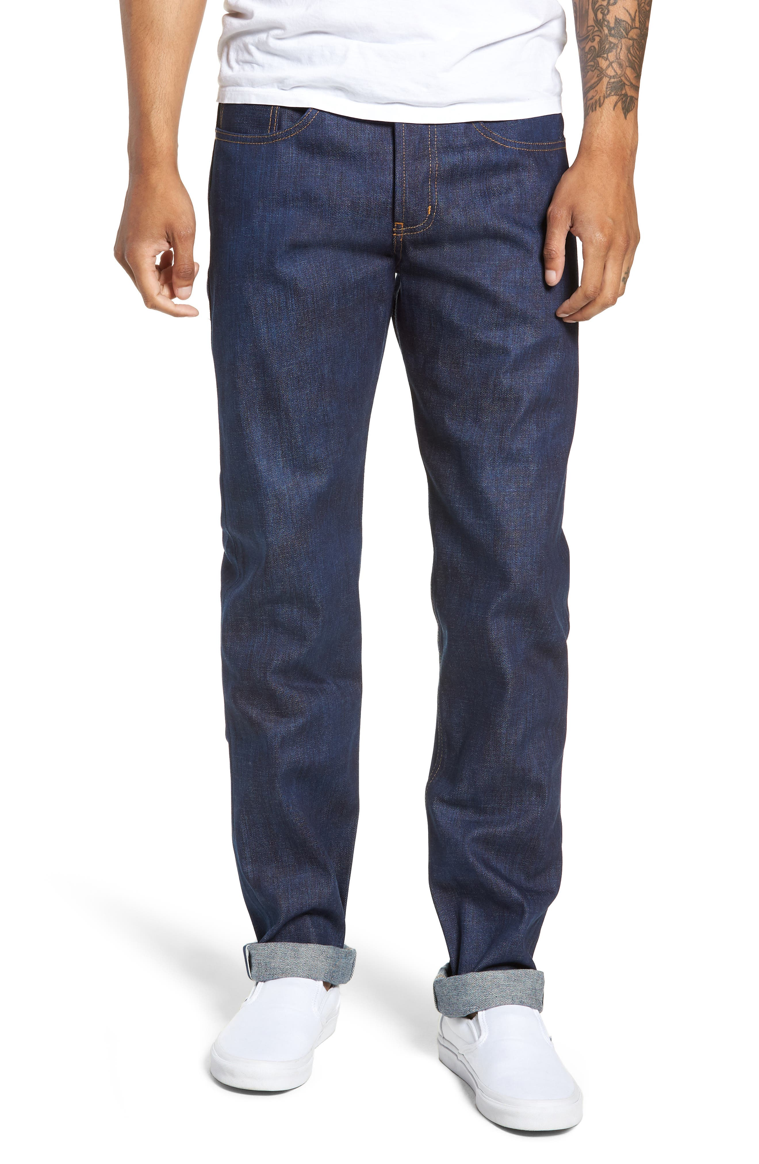 Weird Guy Slim Fit Jeans,                         Main,                         color, KASURI SELVEDGE