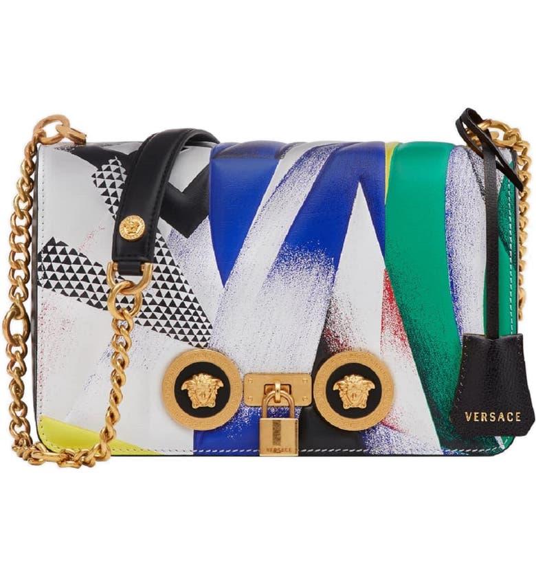 Versace Tribute Print Leather Shoulder Bag   Nordstrom 08667b3aa0