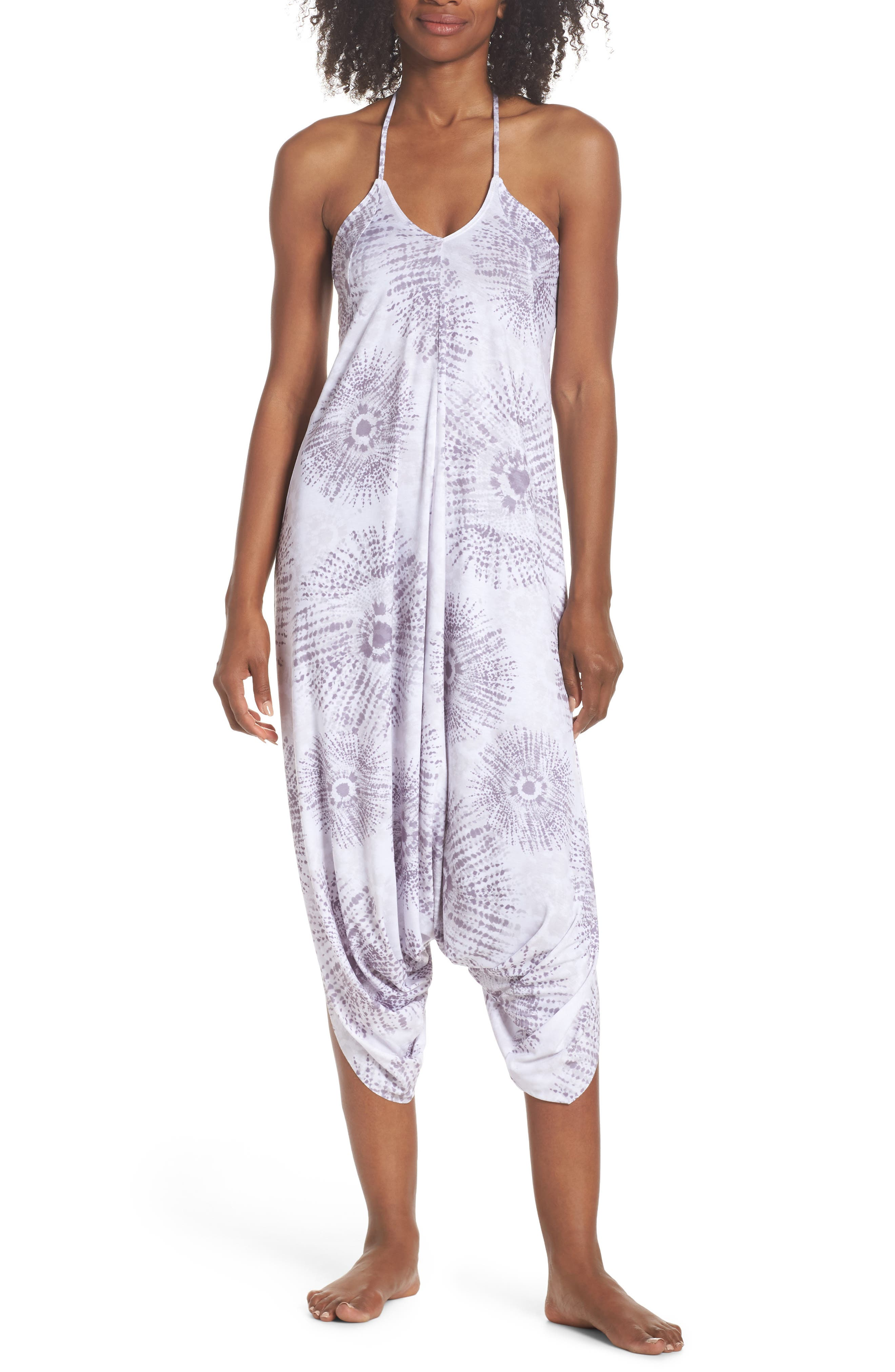 Tica Cover-Up Halter Jumpsuit,                             Main thumbnail 1, color,                             GRAY