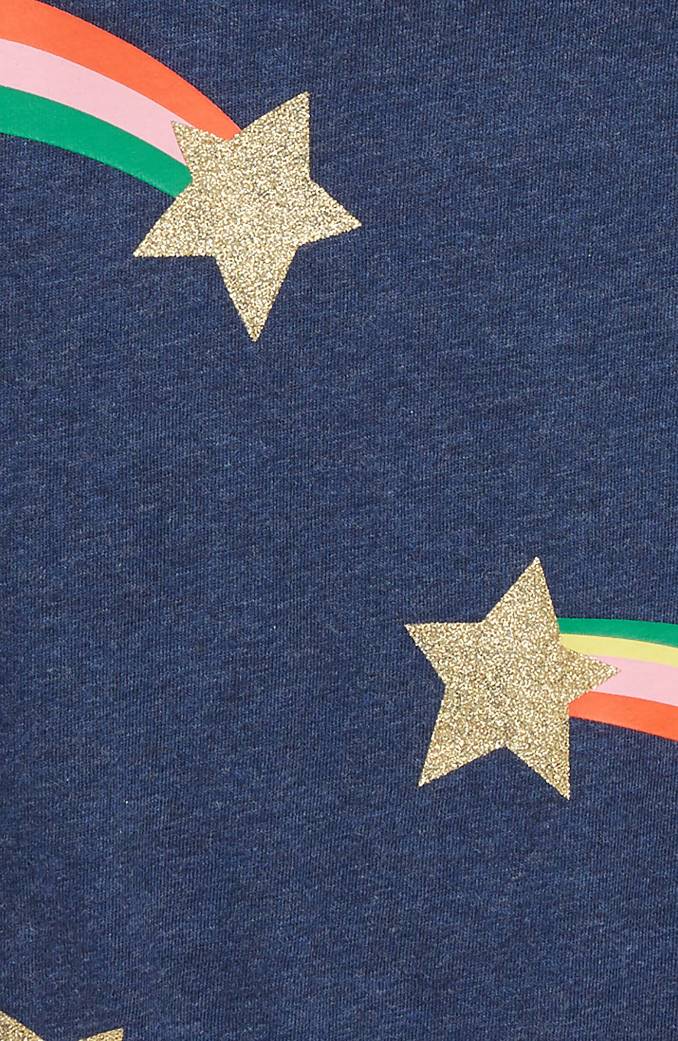 Time to Shine Tee,                             Alternate thumbnail 2, color,                             SCHOOL NAVY MARL STARS