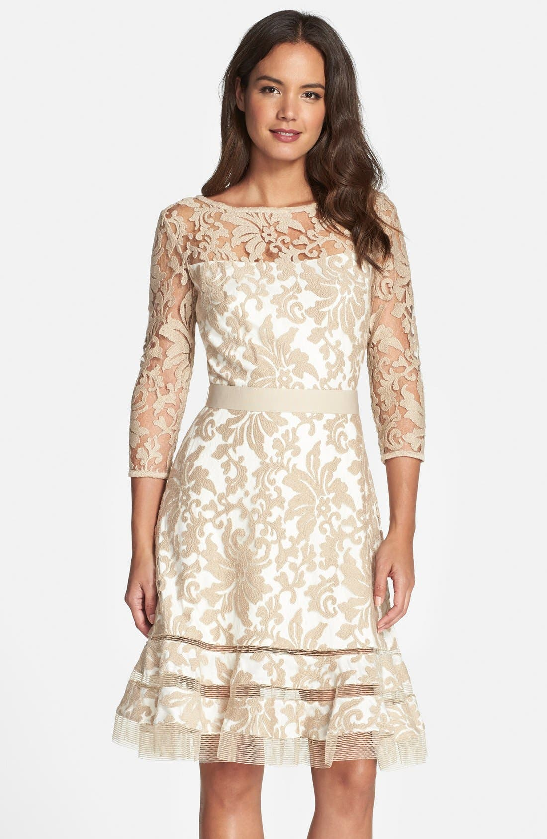 Lace Overlay Dress,                             Main thumbnail 3, color,