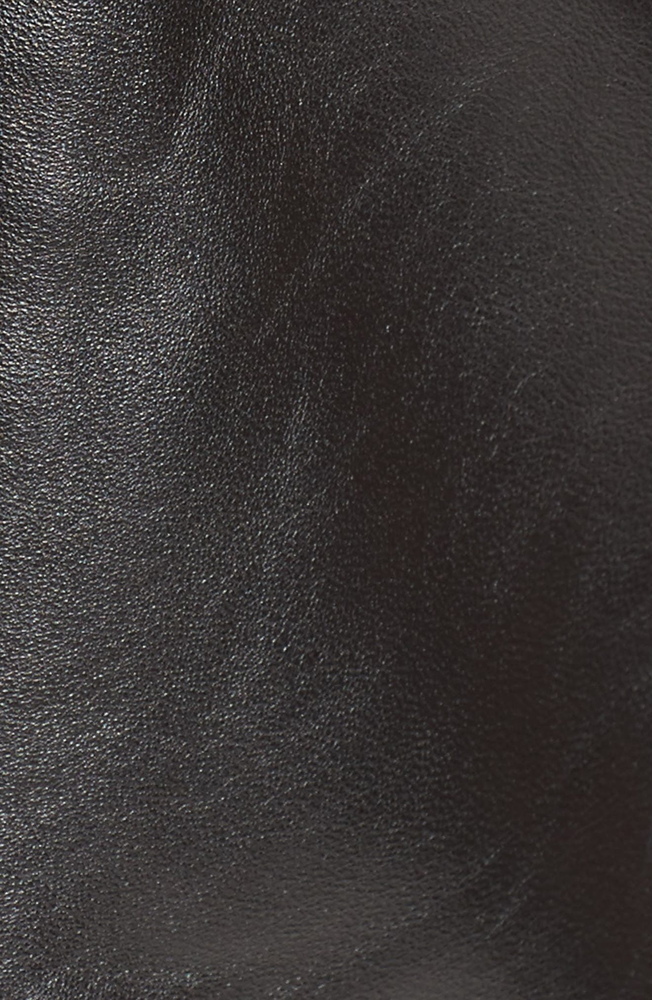 Leather Shorts,                             Alternate thumbnail 5, color,