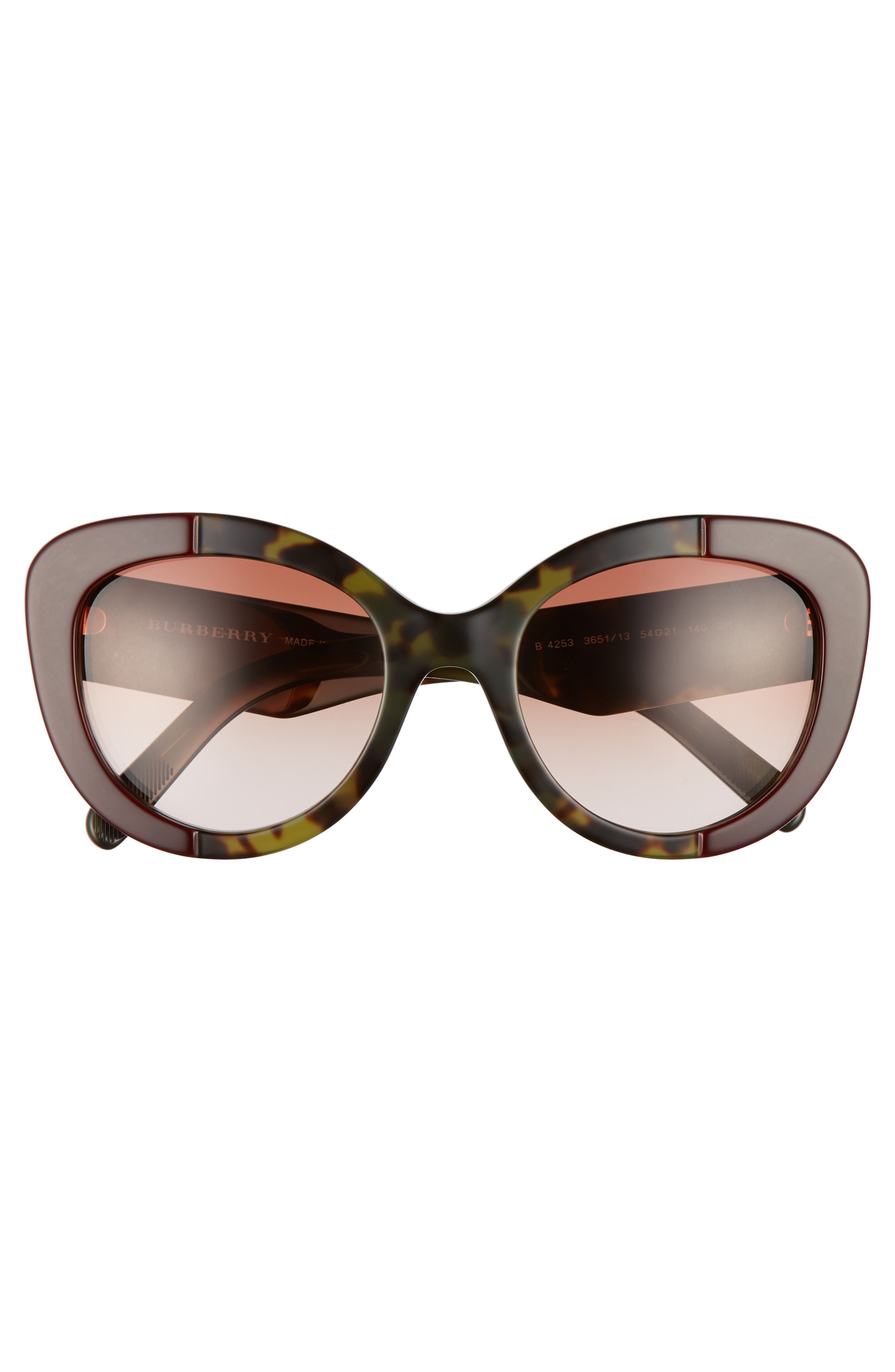 54mm Gradient Butterfly Sunglasses,                             Alternate thumbnail 3, color,                             600