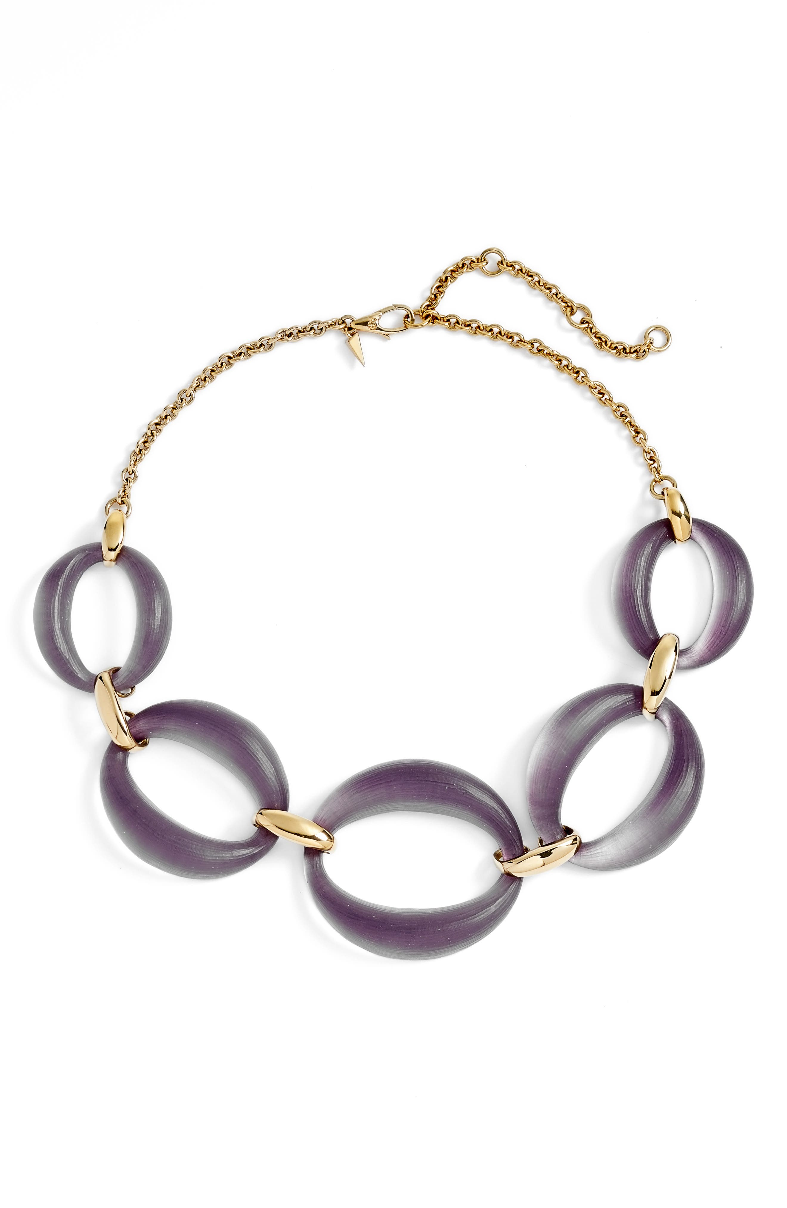 Large Lucite<sup>®</sup> Link Frontal Necklace,                         Main,                         color,