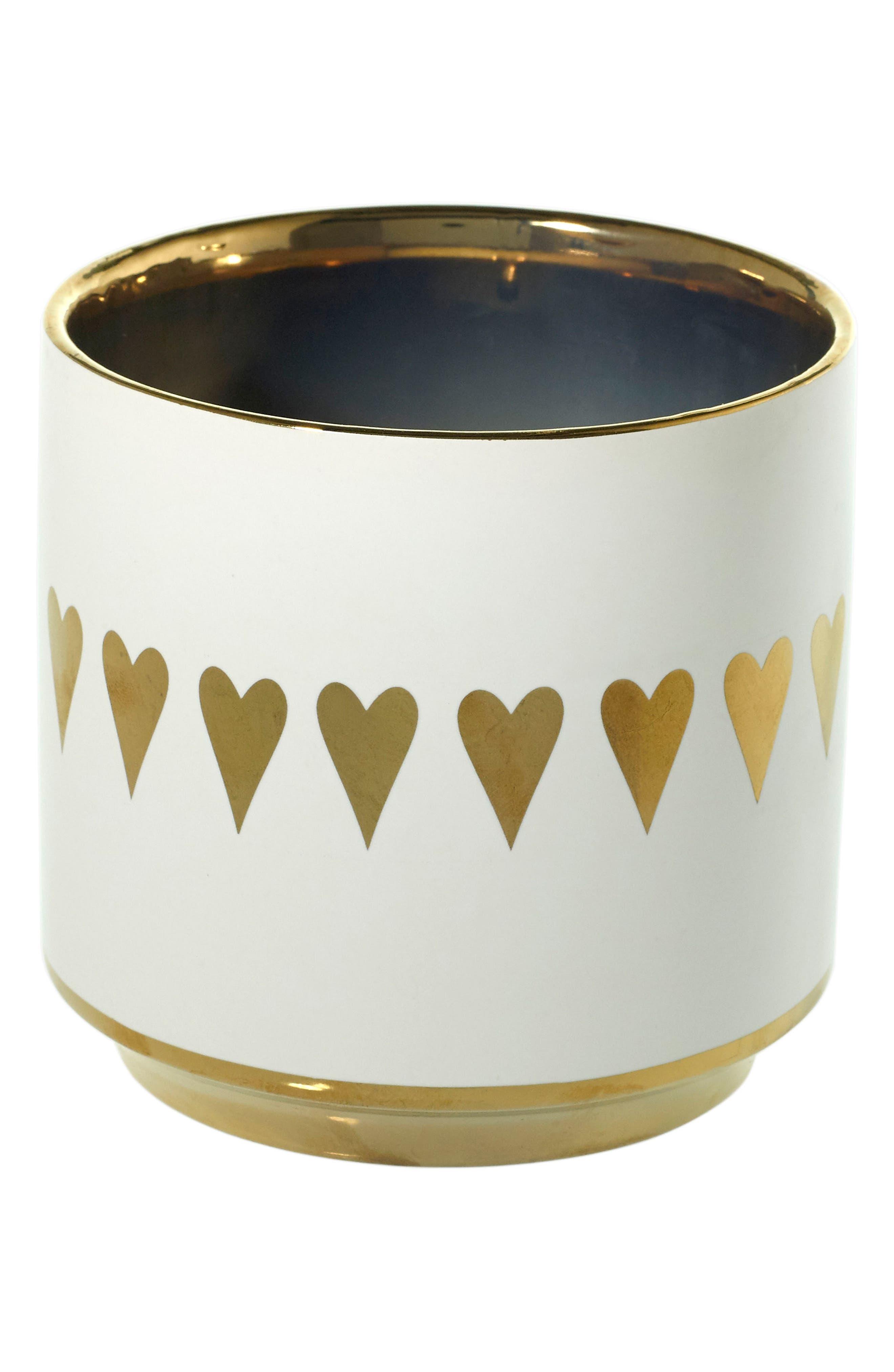 Spade Ceramic Pot,                             Main thumbnail 1, color,                             100