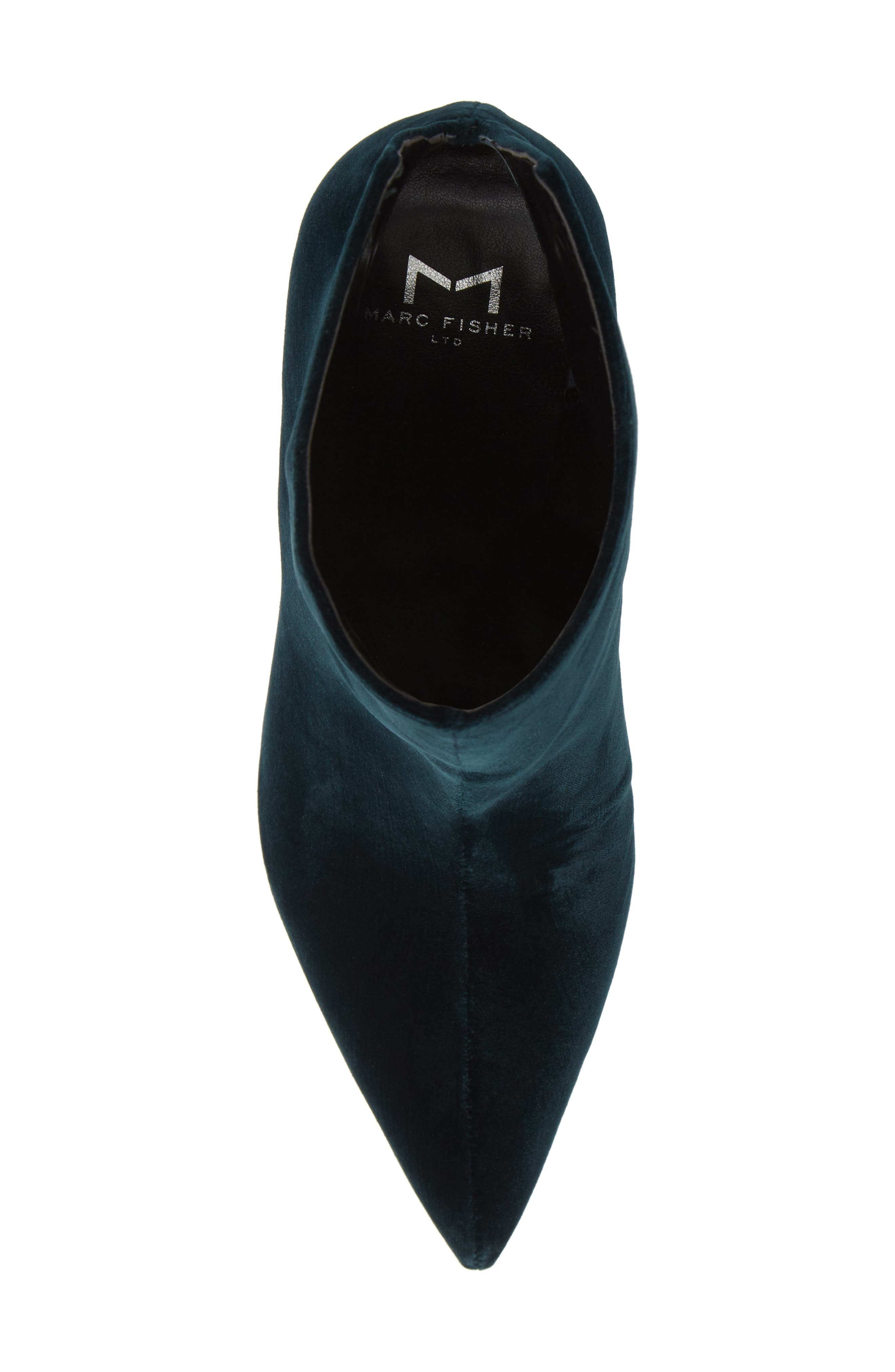 MARC FISHER LTD,                             Fenet Pointy Toe Bootie,                             Alternate thumbnail 5, color,                             SPRUCE FABRIC