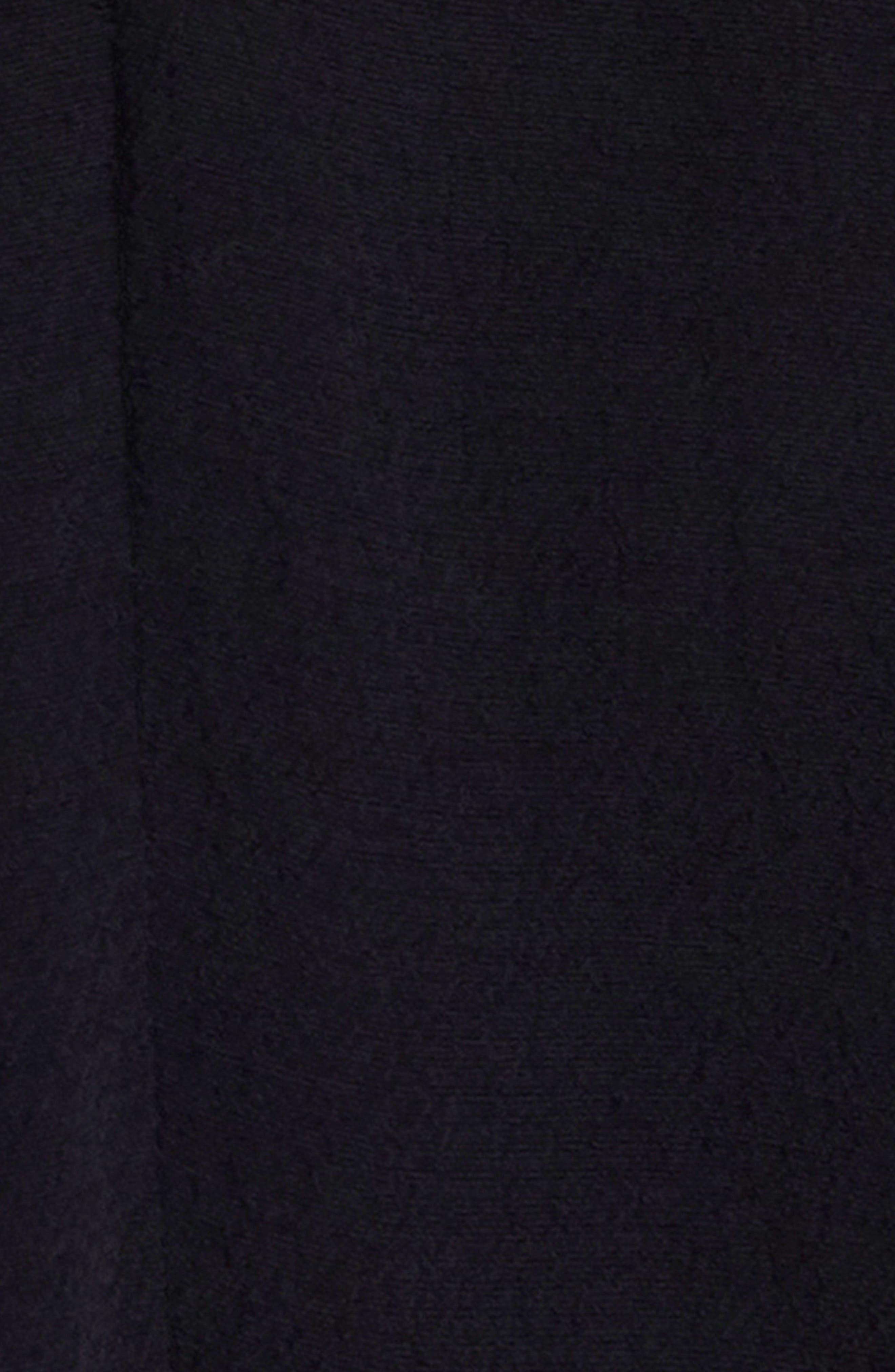 Hana Lantern Sleeve Minidress,                             Alternate thumbnail 4, color,                             001