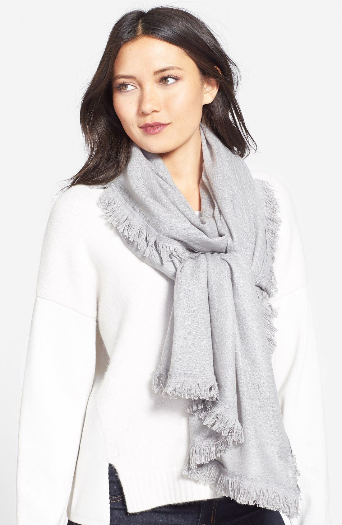 Wool & Cashmere Scarf,                             Main thumbnail 3, color,