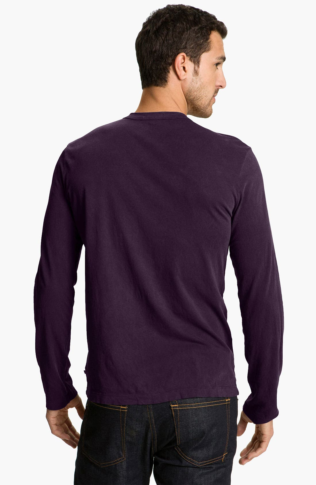 Long Sleeve Crewneck T-Shirt,                             Alternate thumbnail 56, color,