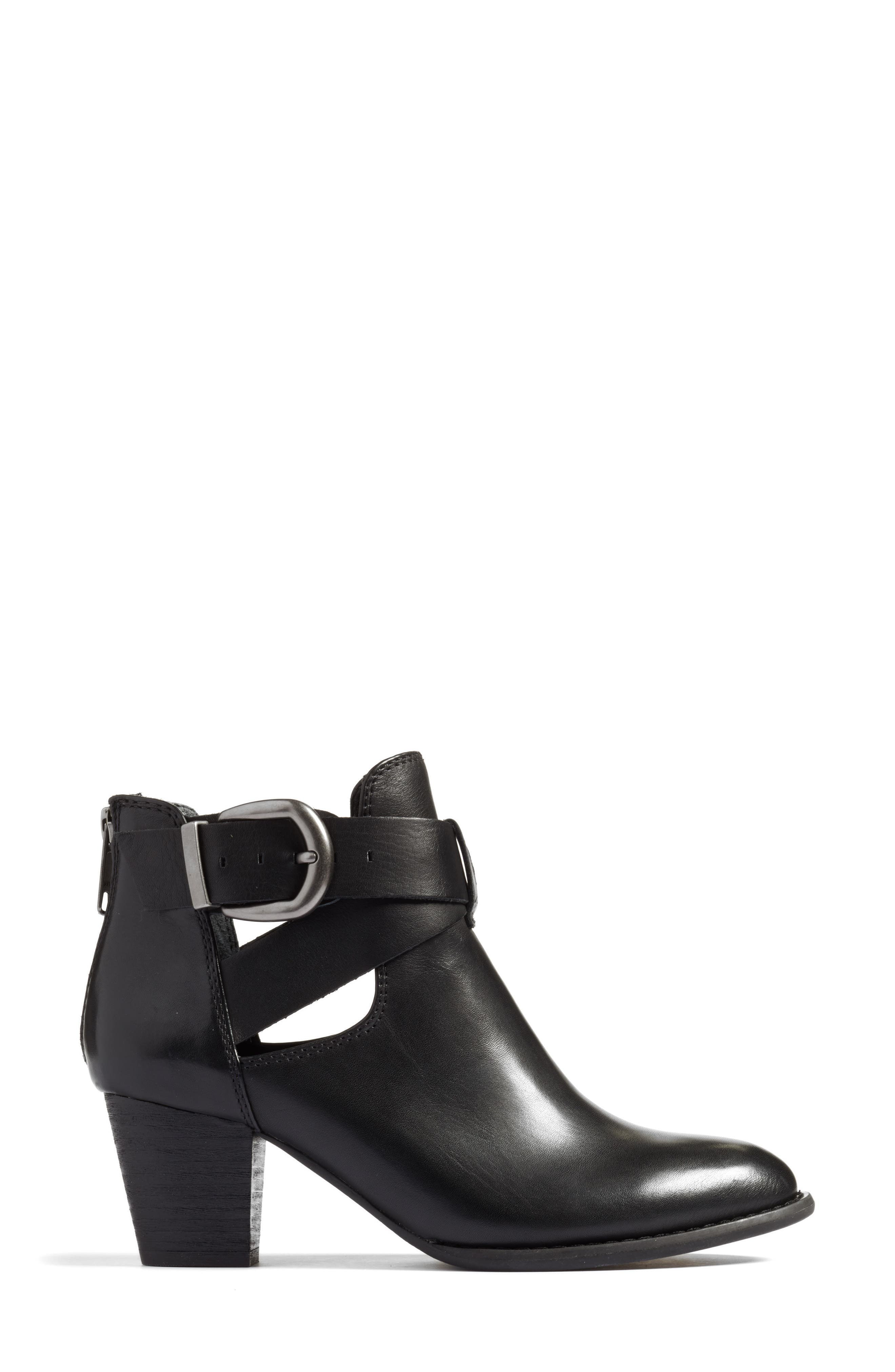 Rory Buckle Strap Bootie,                             Alternate thumbnail 3, color,                             001