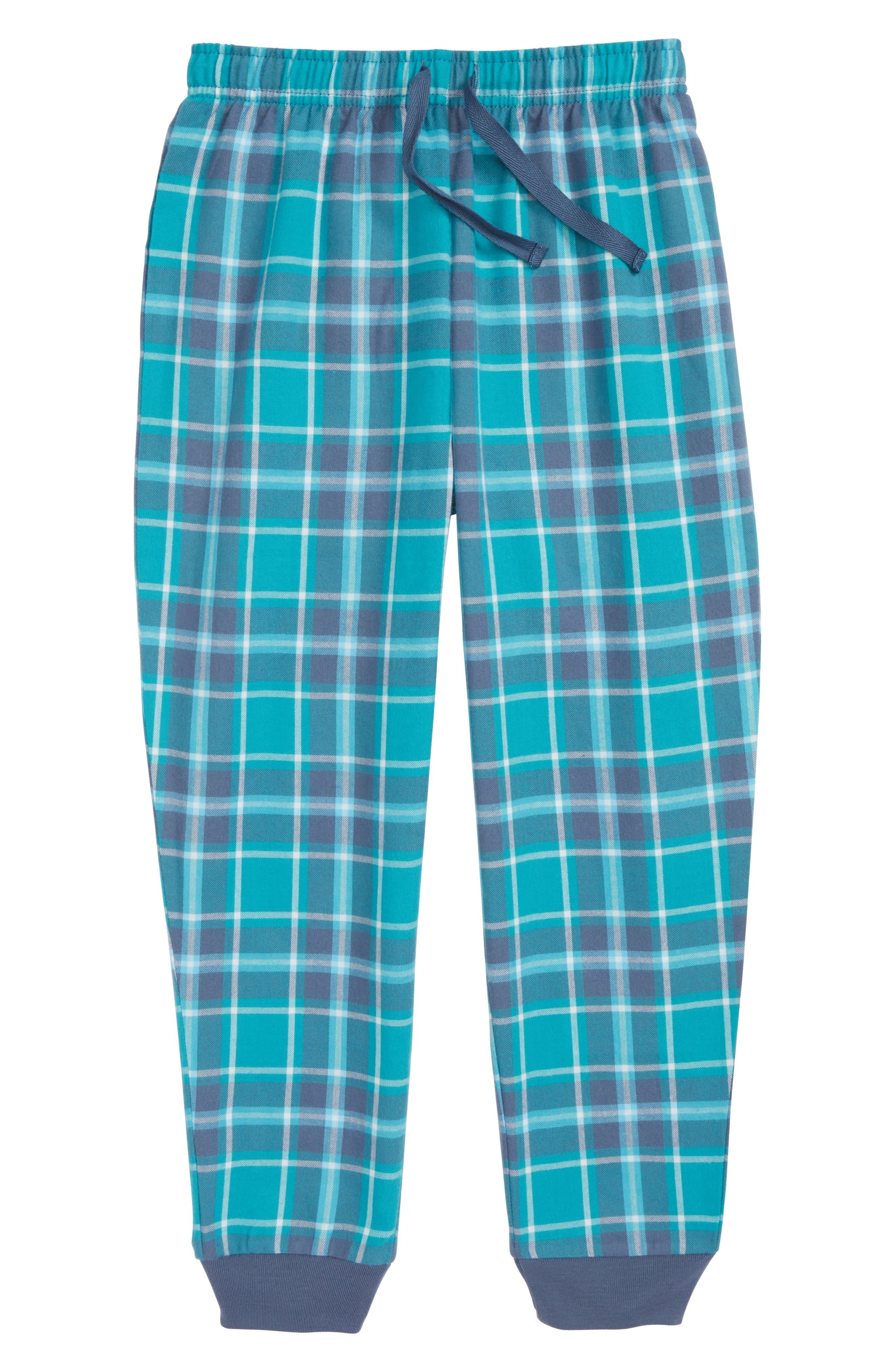 Flannel Jogger Pants,                         Main,                         color, NAVY PEACOAT PLAID