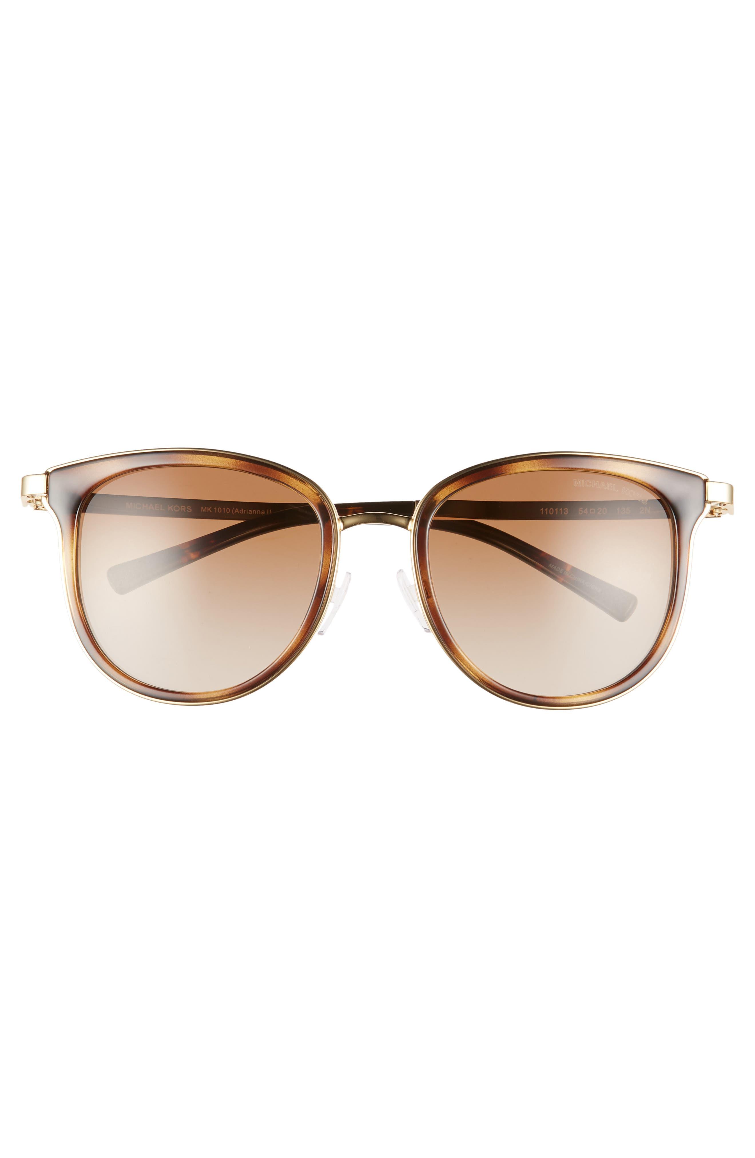 54mm Round Sunglasses,                             Alternate thumbnail 3, color,                             200