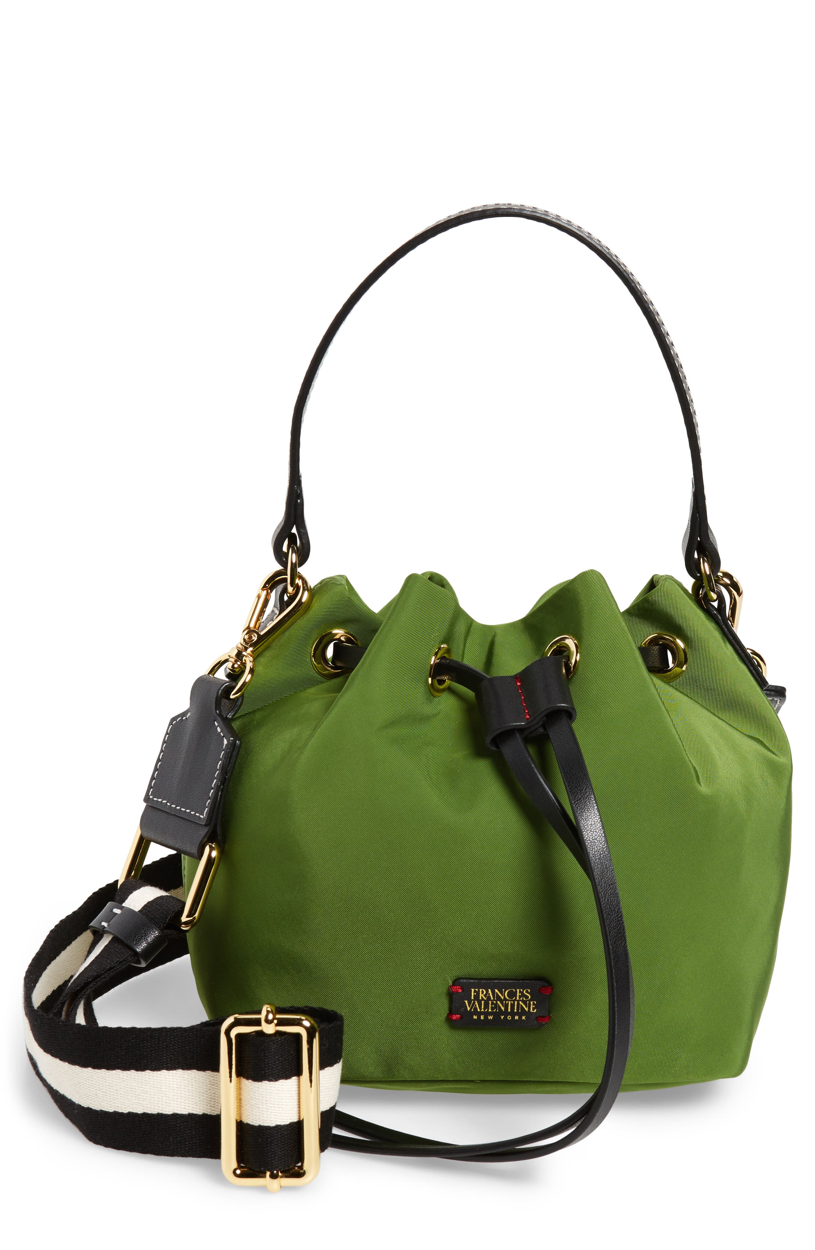 Small Ann Nylon Bucket Bag,                             Main thumbnail 1, color,