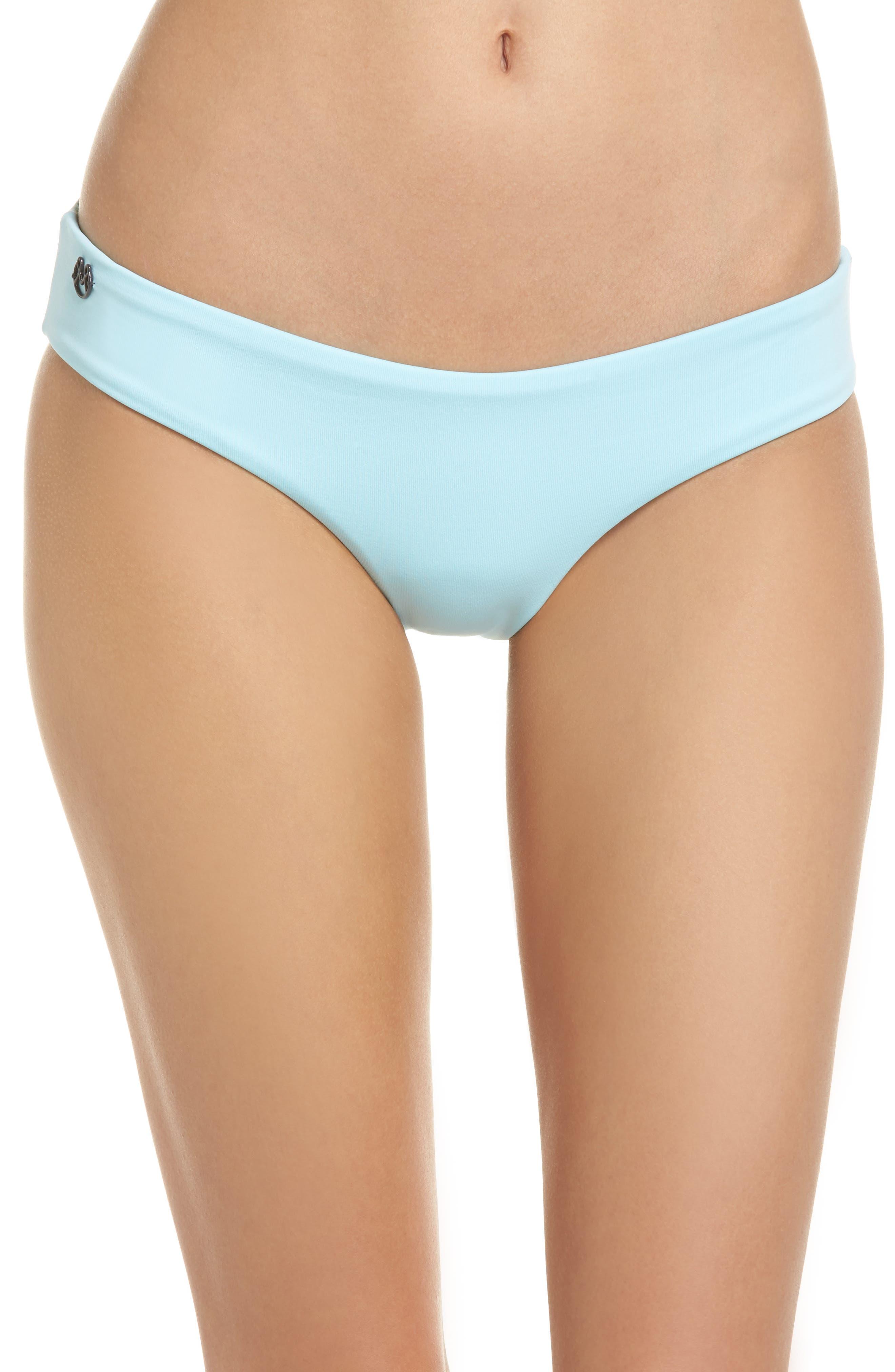Crystal Blue Sublime Signature Reversible Bikini Bottoms,                             Main thumbnail 1, color,                             450
