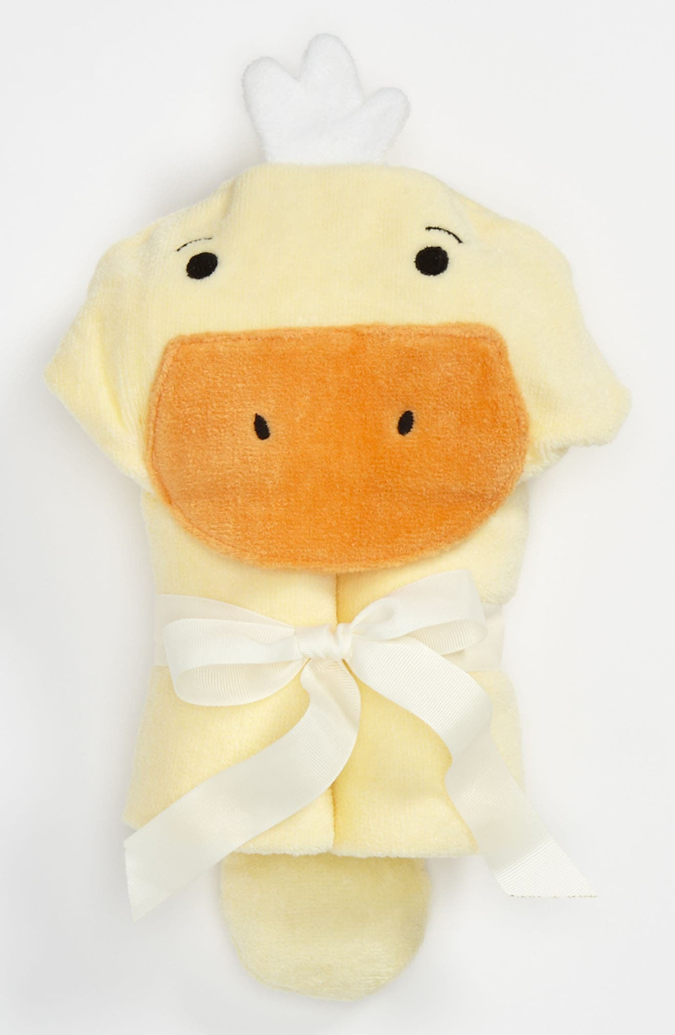 Terry Velour Hooded Duck Towel,                             Alternate thumbnail 2, color,                             DUCK