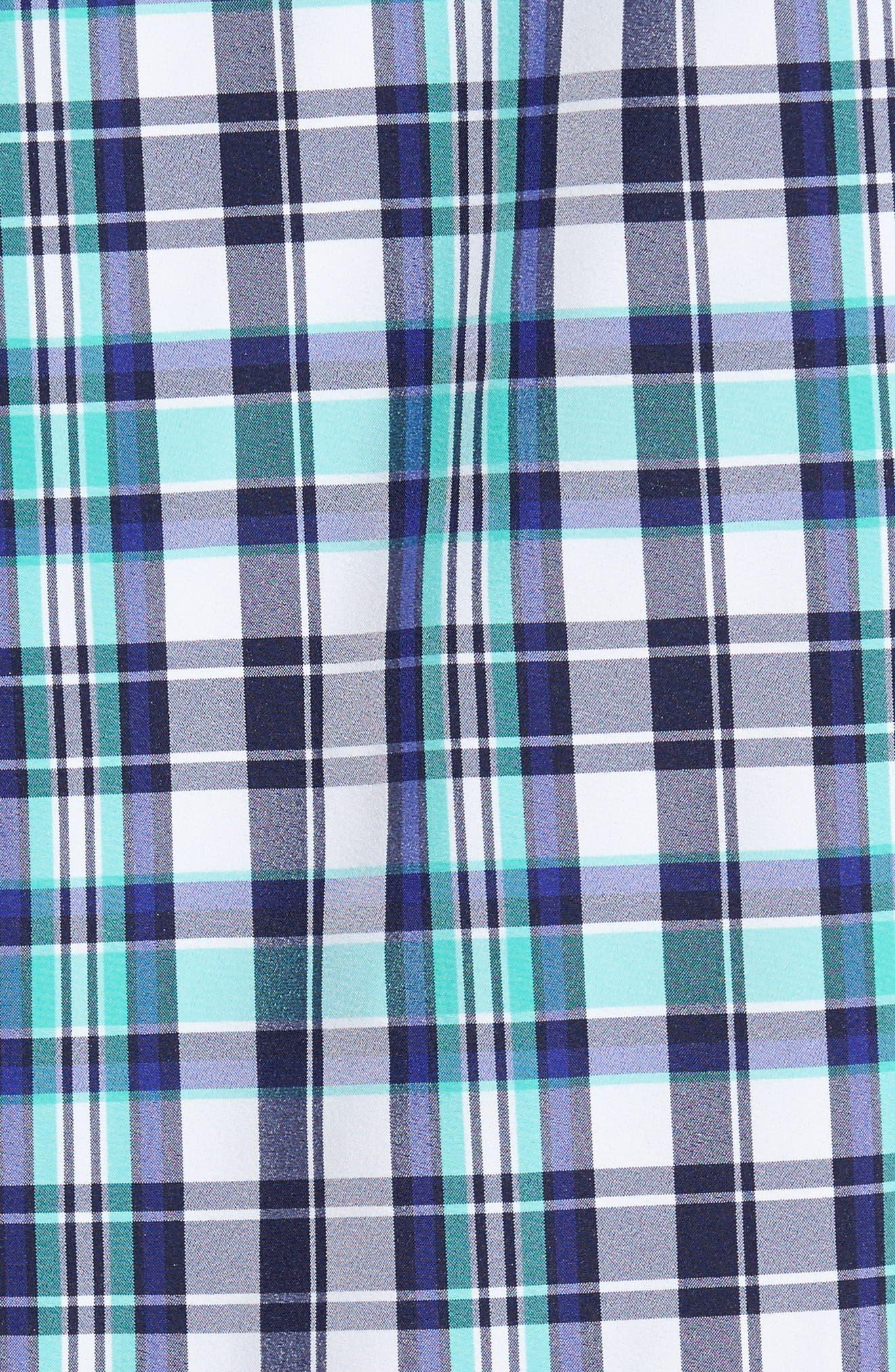Monterrey Plaid Sport Shirt,                             Alternate thumbnail 5, color,                             GREEN