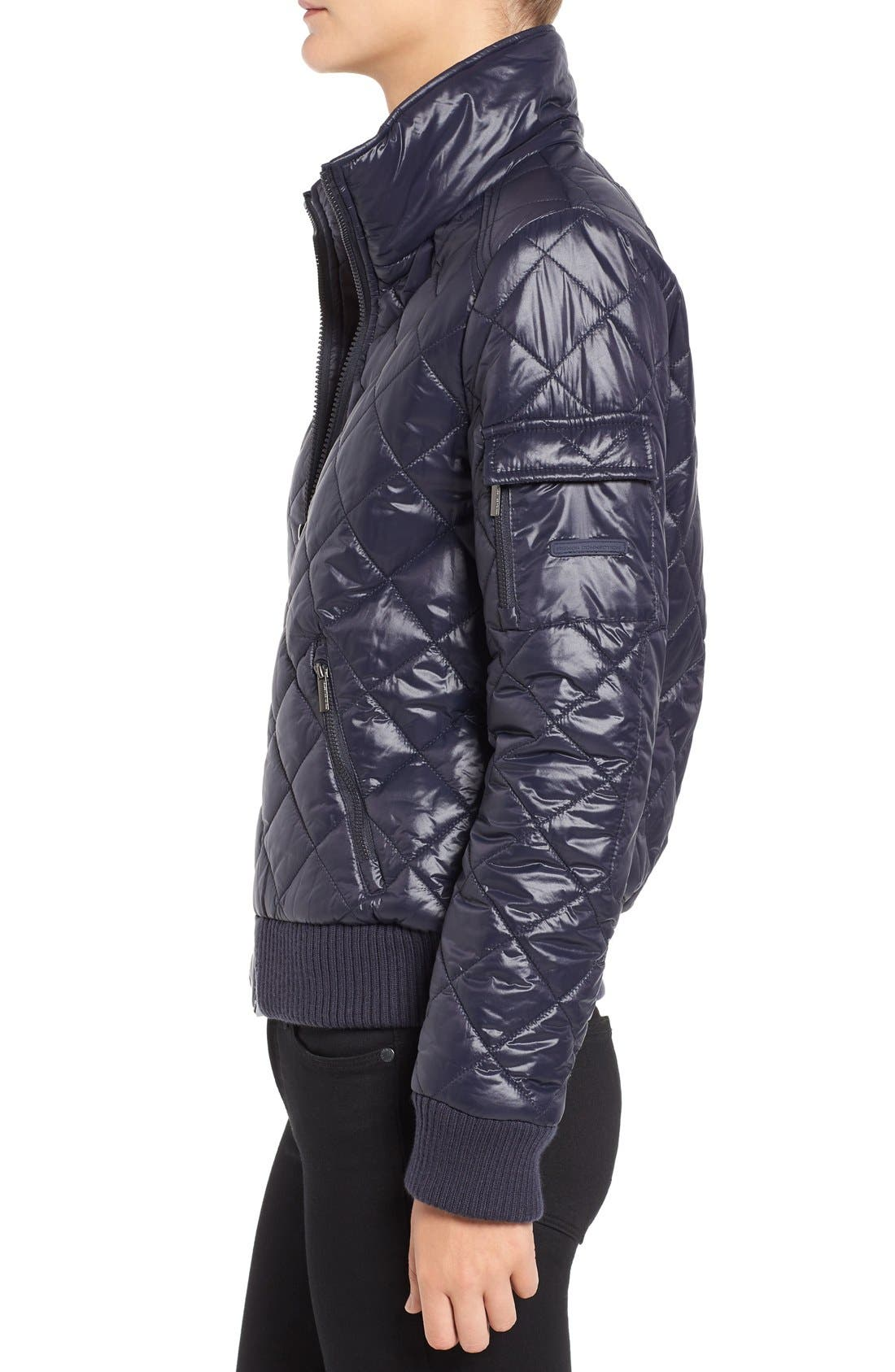 Quilted Bomber Jacket,                             Alternate thumbnail 15, color,