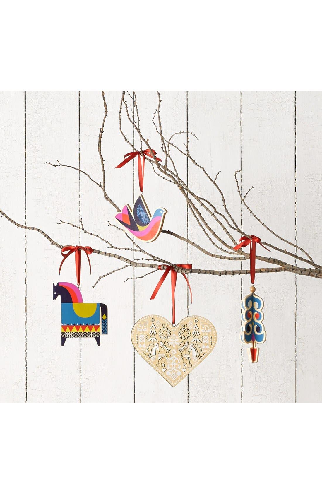 Wooden Heart Ornament,                             Alternate thumbnail 2, color,                             NATURAL