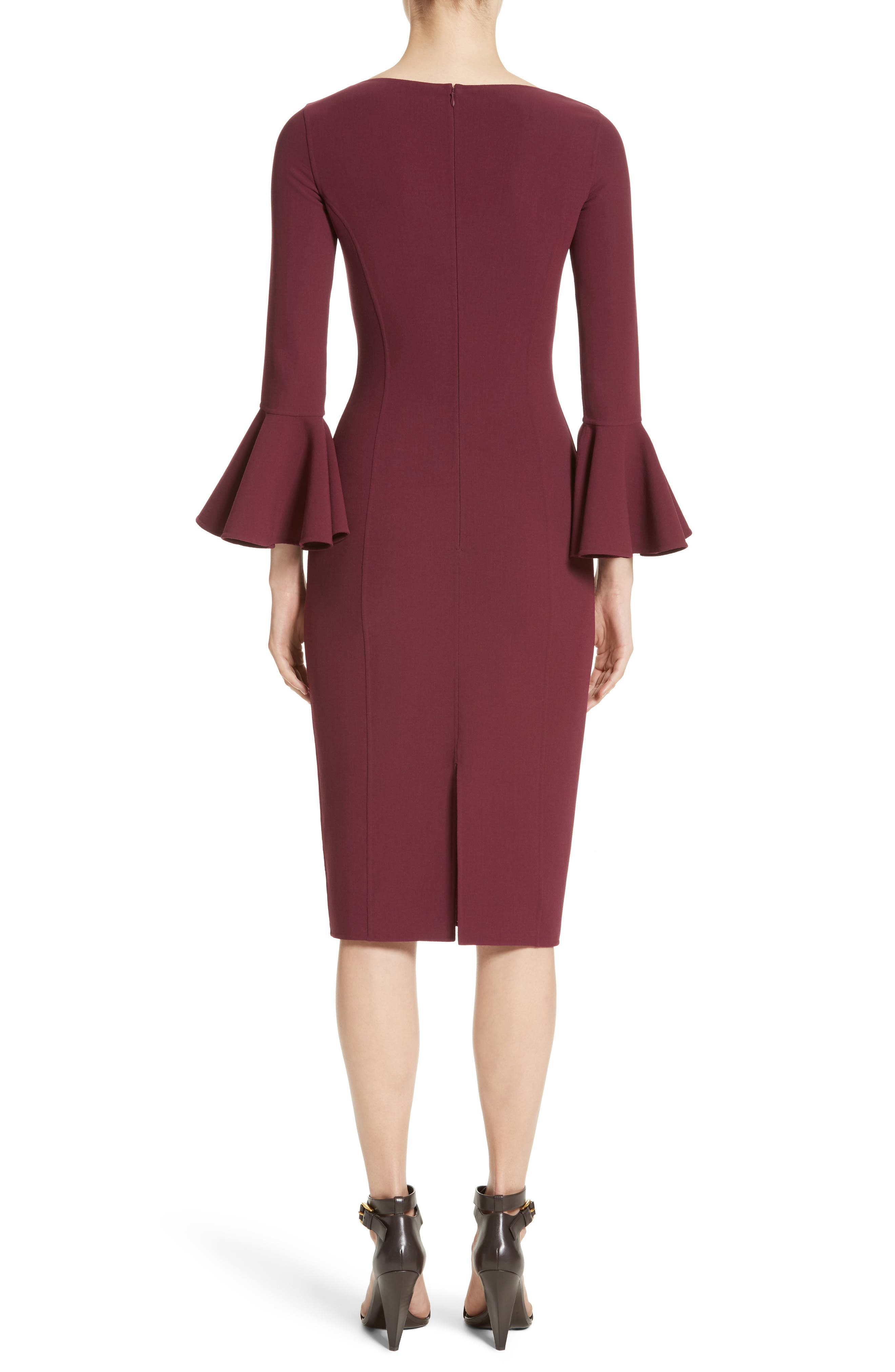 Bell Cuff Sheath Dress,                             Alternate thumbnail 2, color,                             608