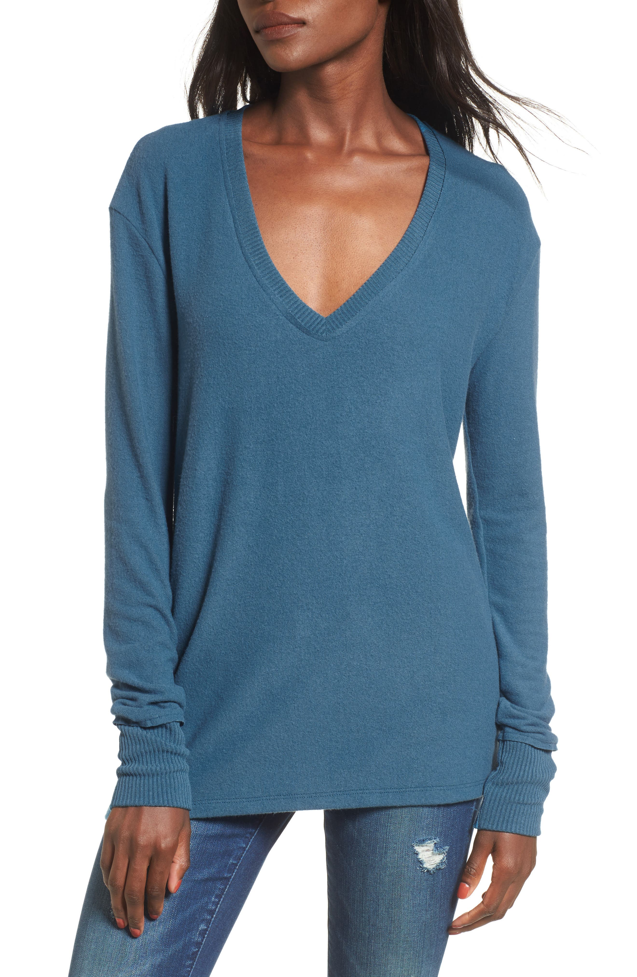 V-Neck Pullover,                             Main thumbnail 6, color,