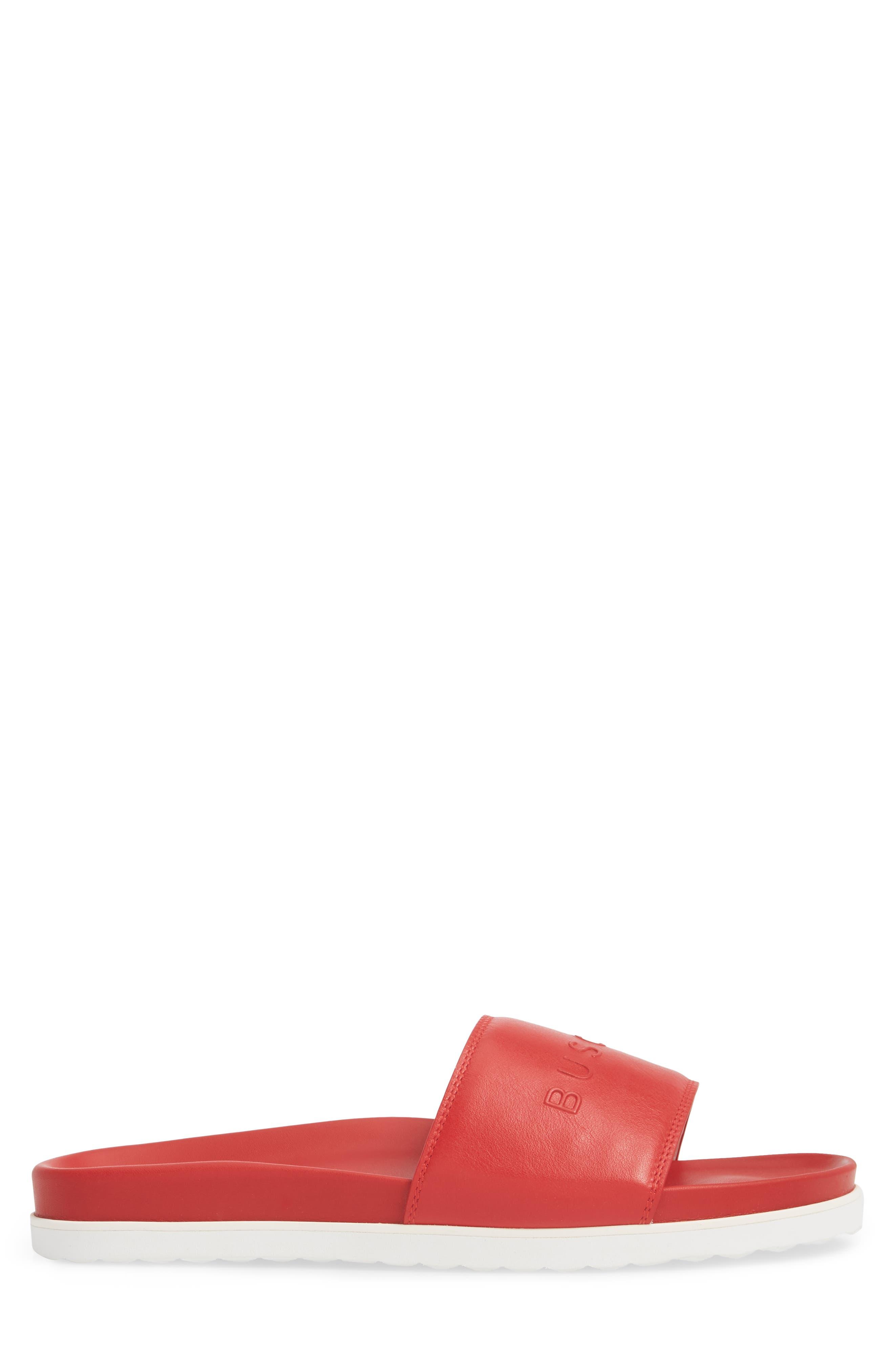 Embossed Logo Sport Slide,                             Alternate thumbnail 3, color,                             RED