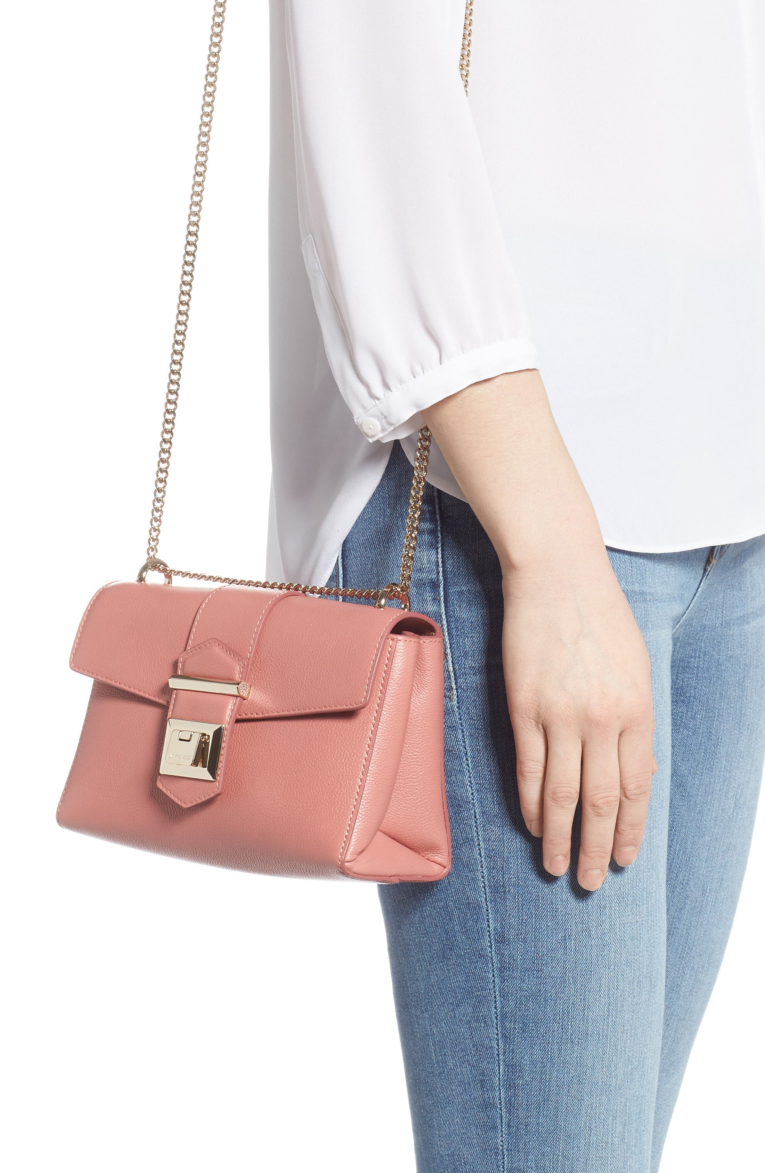 Marianne Leather Crossbody Bag,                             Alternate thumbnail 2, color,                             ROSEWOOD
