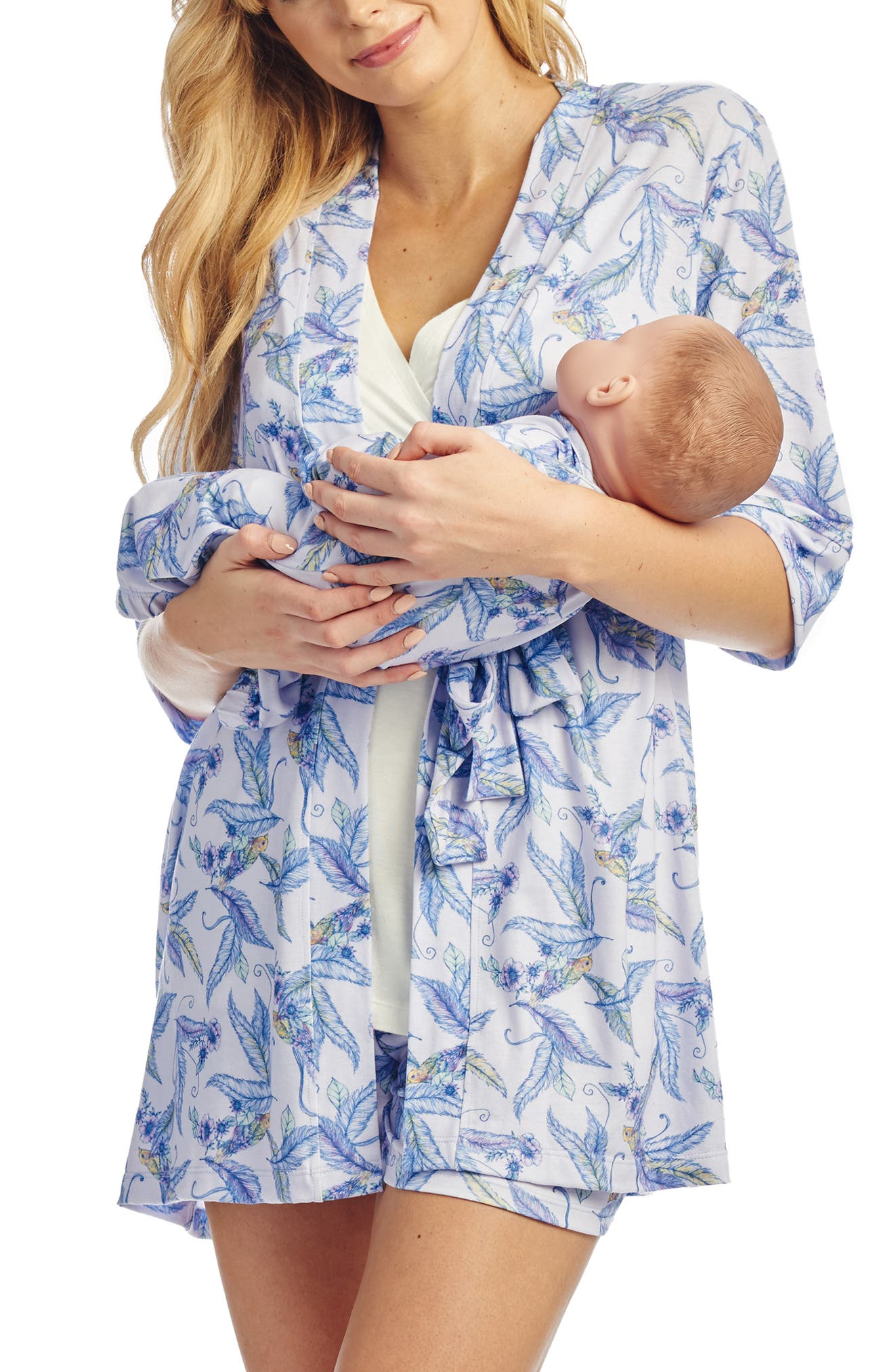 Everly Grey Adalia 5-Piece Maternity/nursing Pajama Set, None