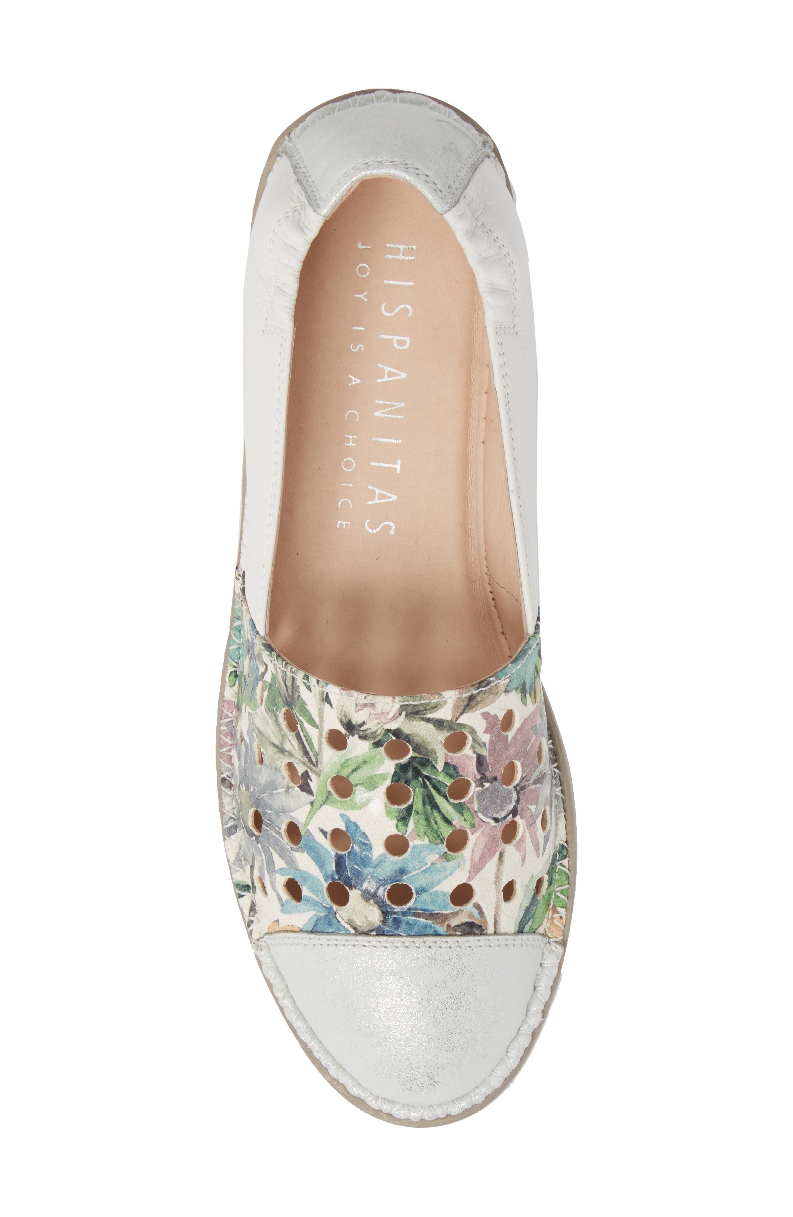 Maiko Flat,                             Alternate thumbnail 5, color,                             STAR SILVER/ BLOSSOM LEATHER