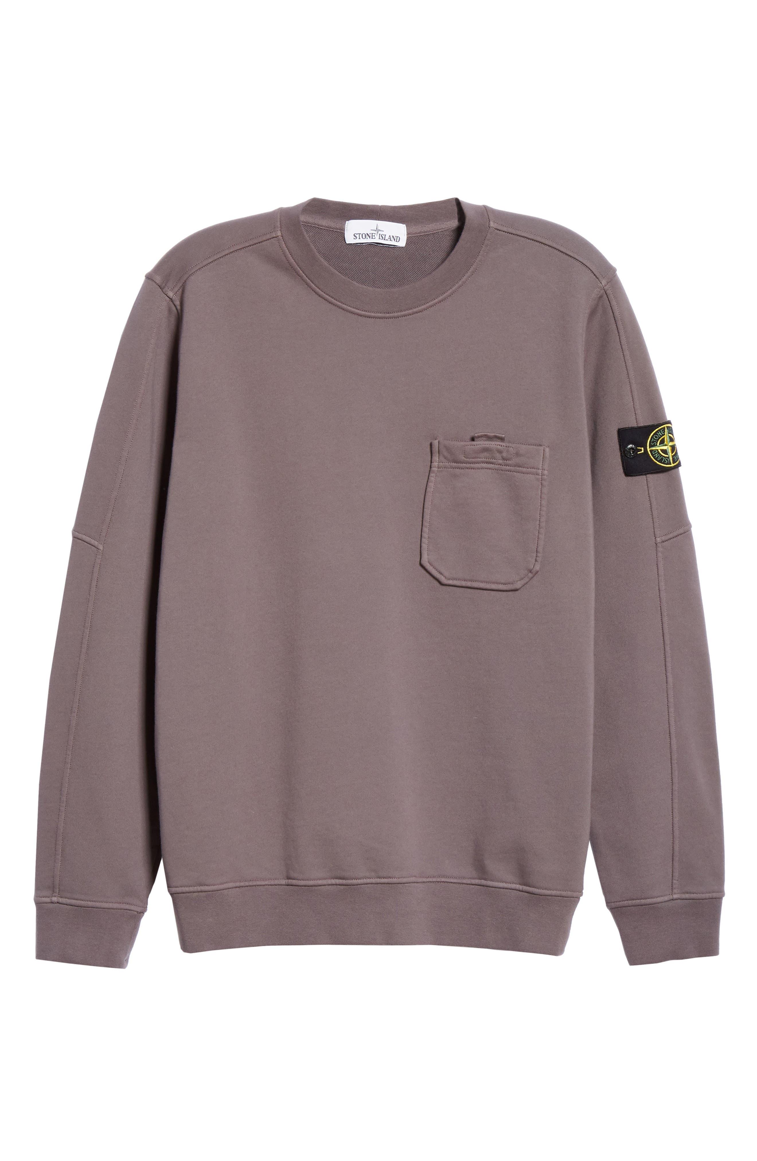 STONE ISLAND,                             Pocket Sweatshirt,                             Alternate thumbnail 6, color,                             BLUE