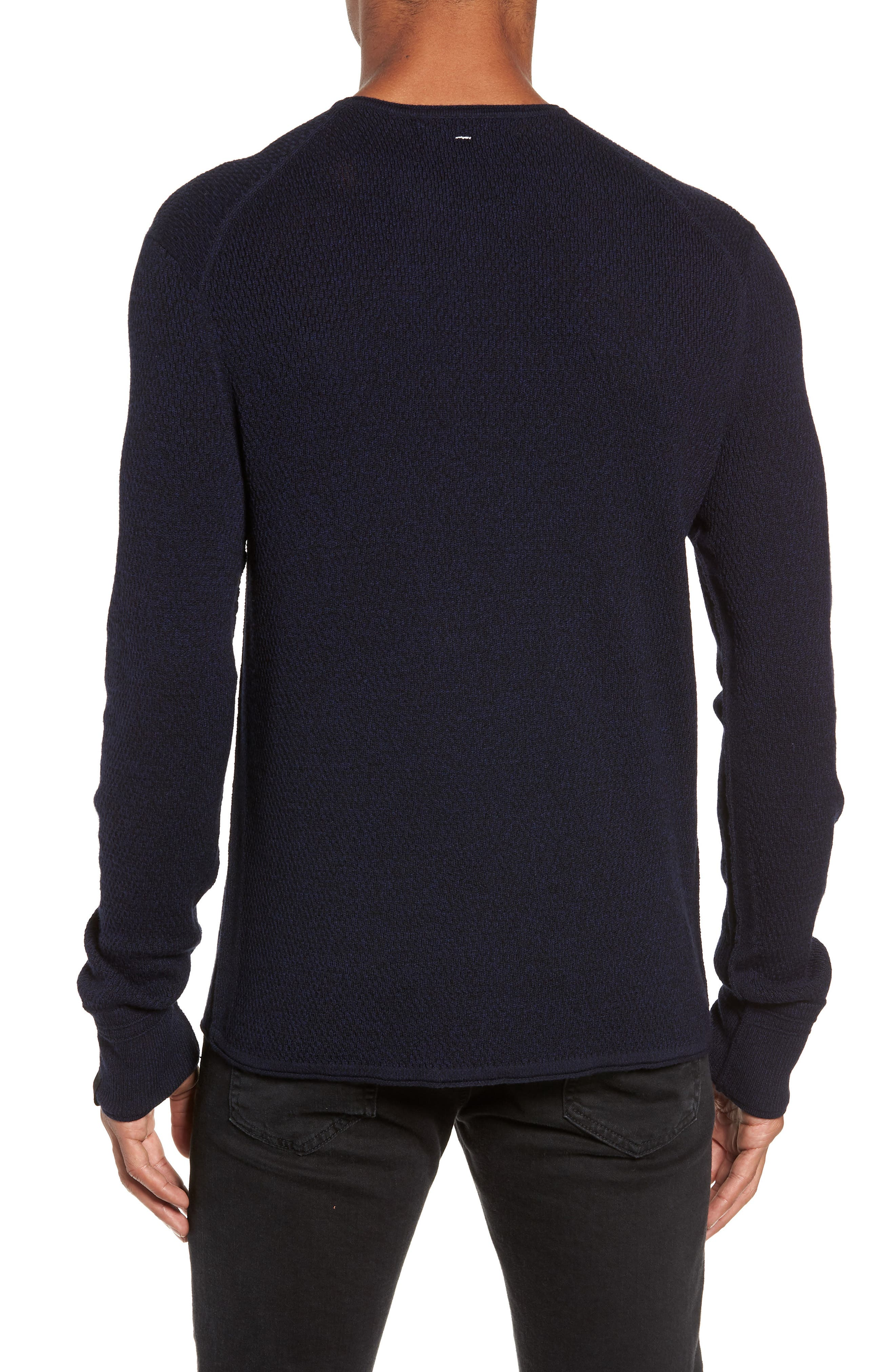 Gregory Wool Blend Crewneck Sweater,                             Alternate thumbnail 2, color,                             NAVY