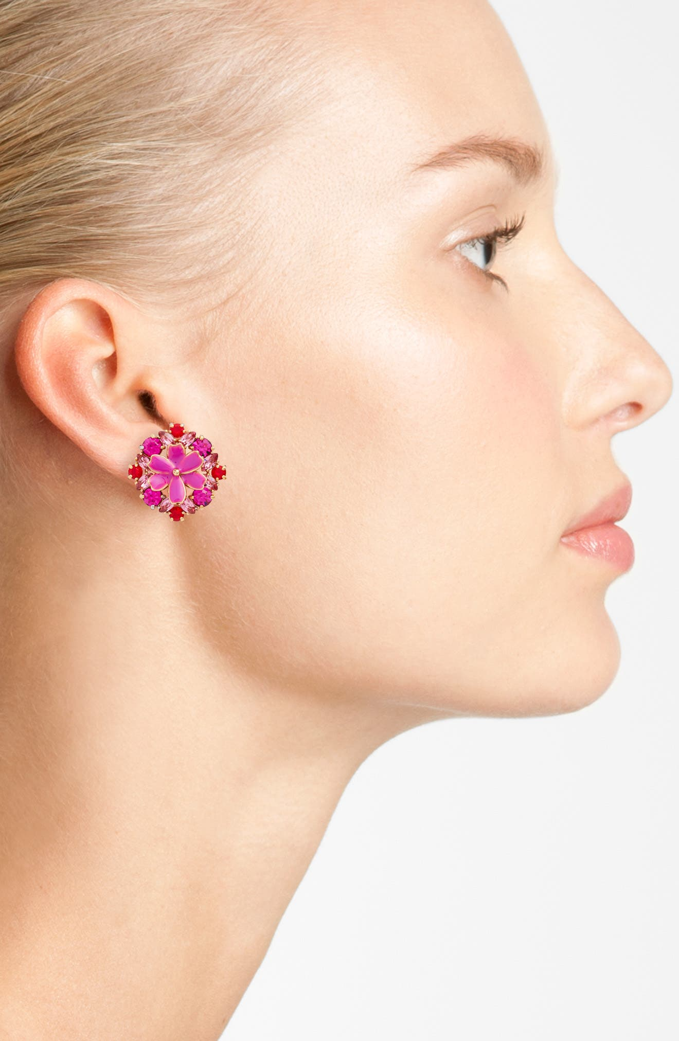 here comes the sun crystal stud earrings,                             Alternate thumbnail 6, color,
