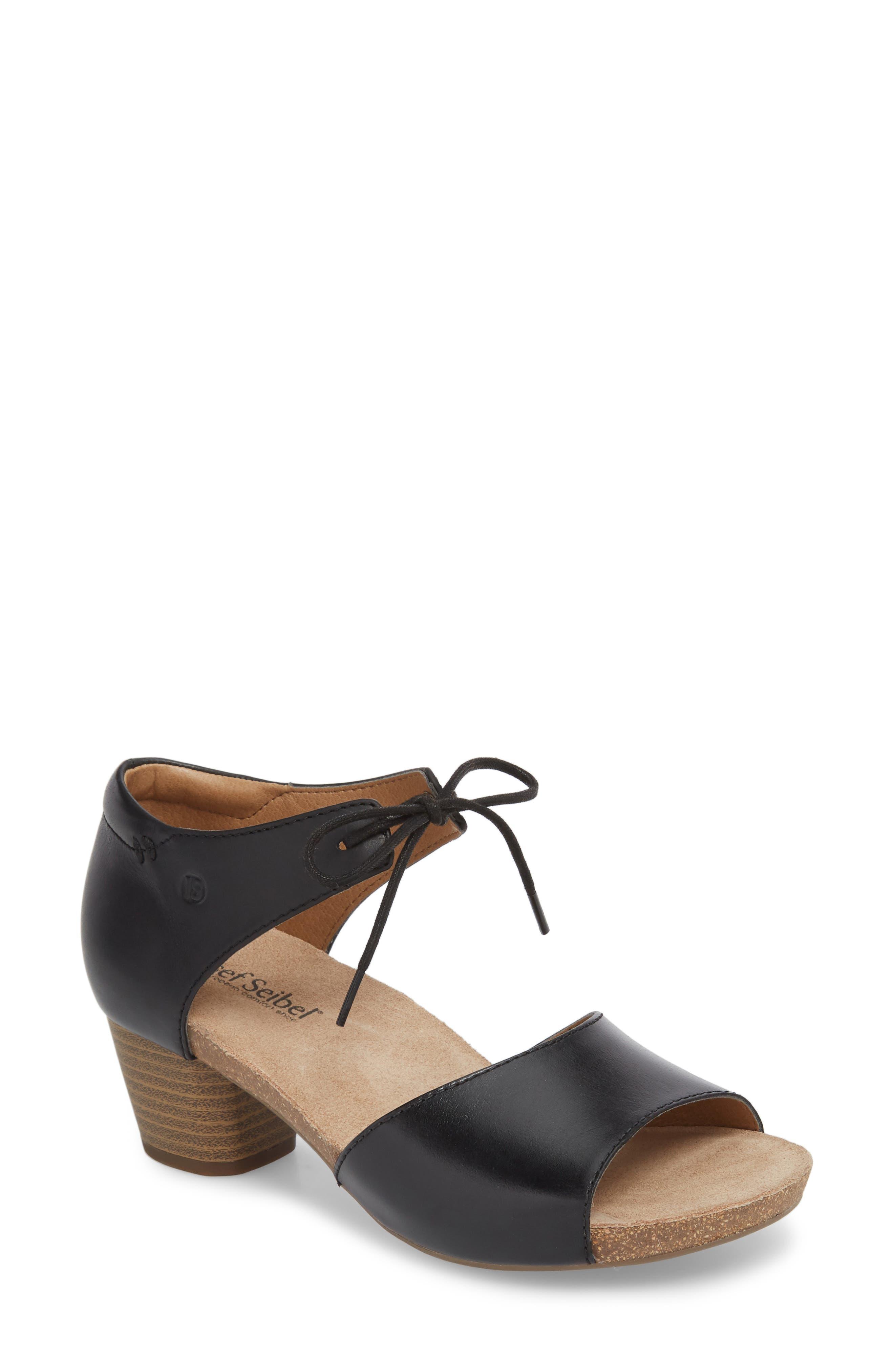 JOSEF SEIBEL Rose 23 Tie Front Sandal, Main, color, 001
