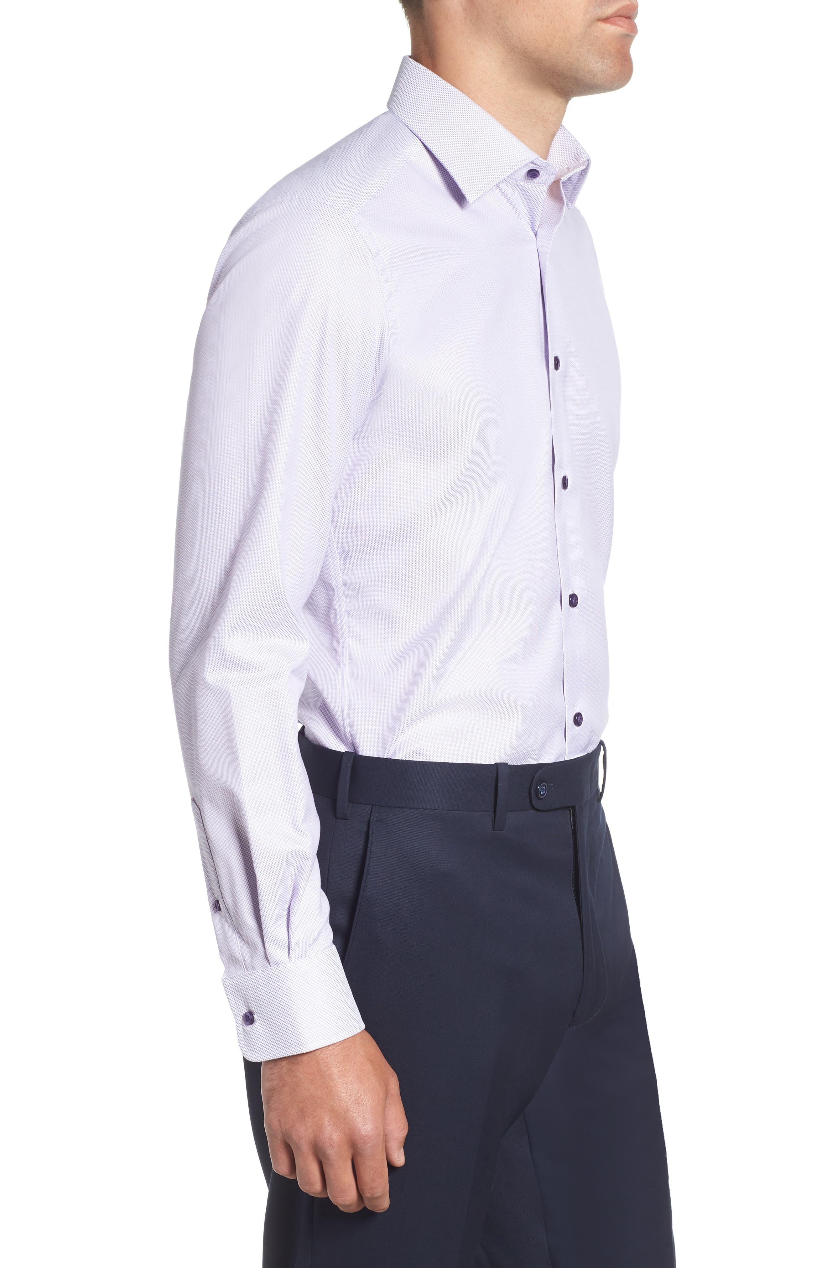 Trim Fit Dress Shirt,                             Alternate thumbnail 4, color,                             LILAC