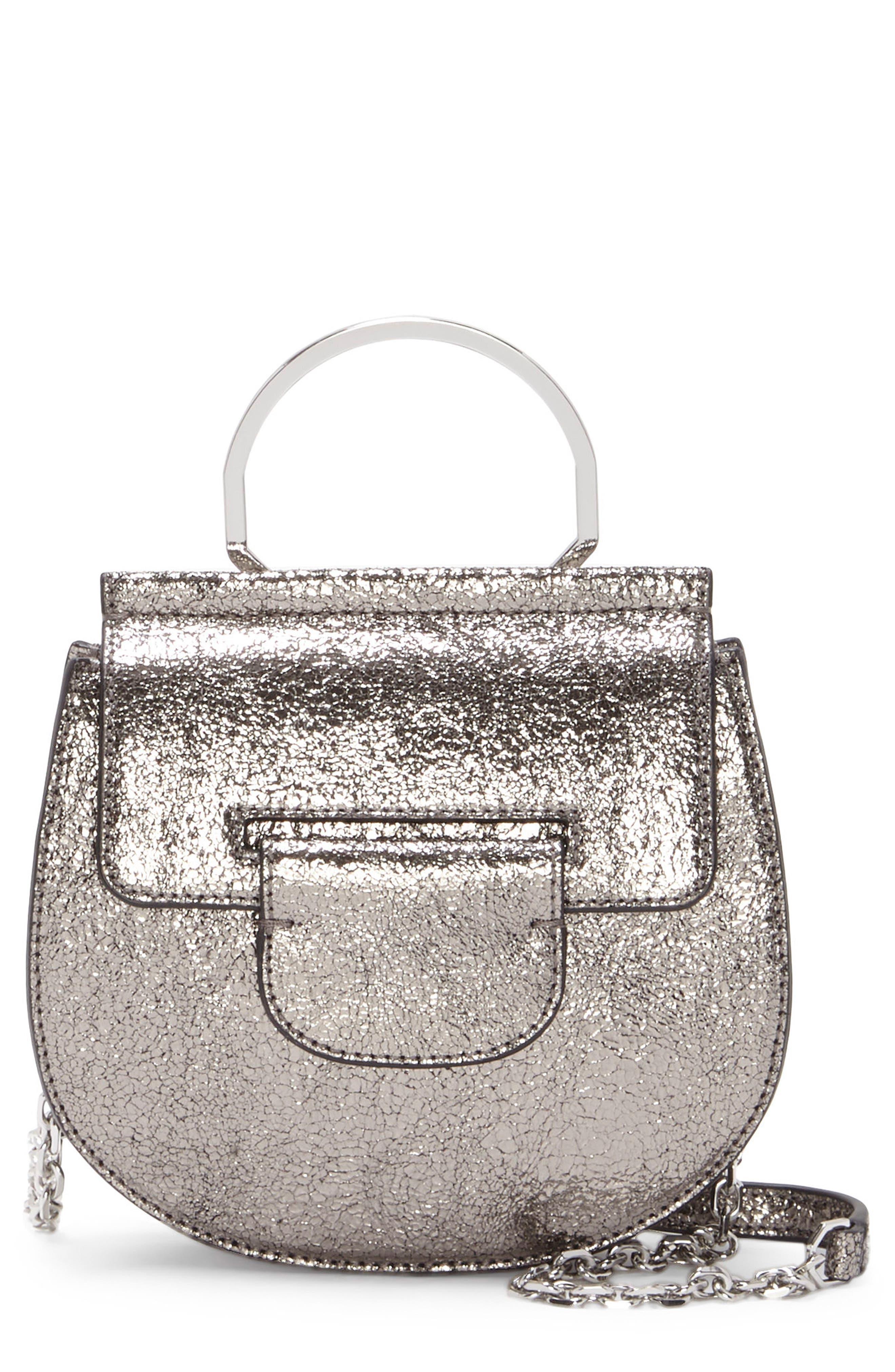 Kaea Metallic Leather Bracelet Bag,                             Main thumbnail 1, color,                             040