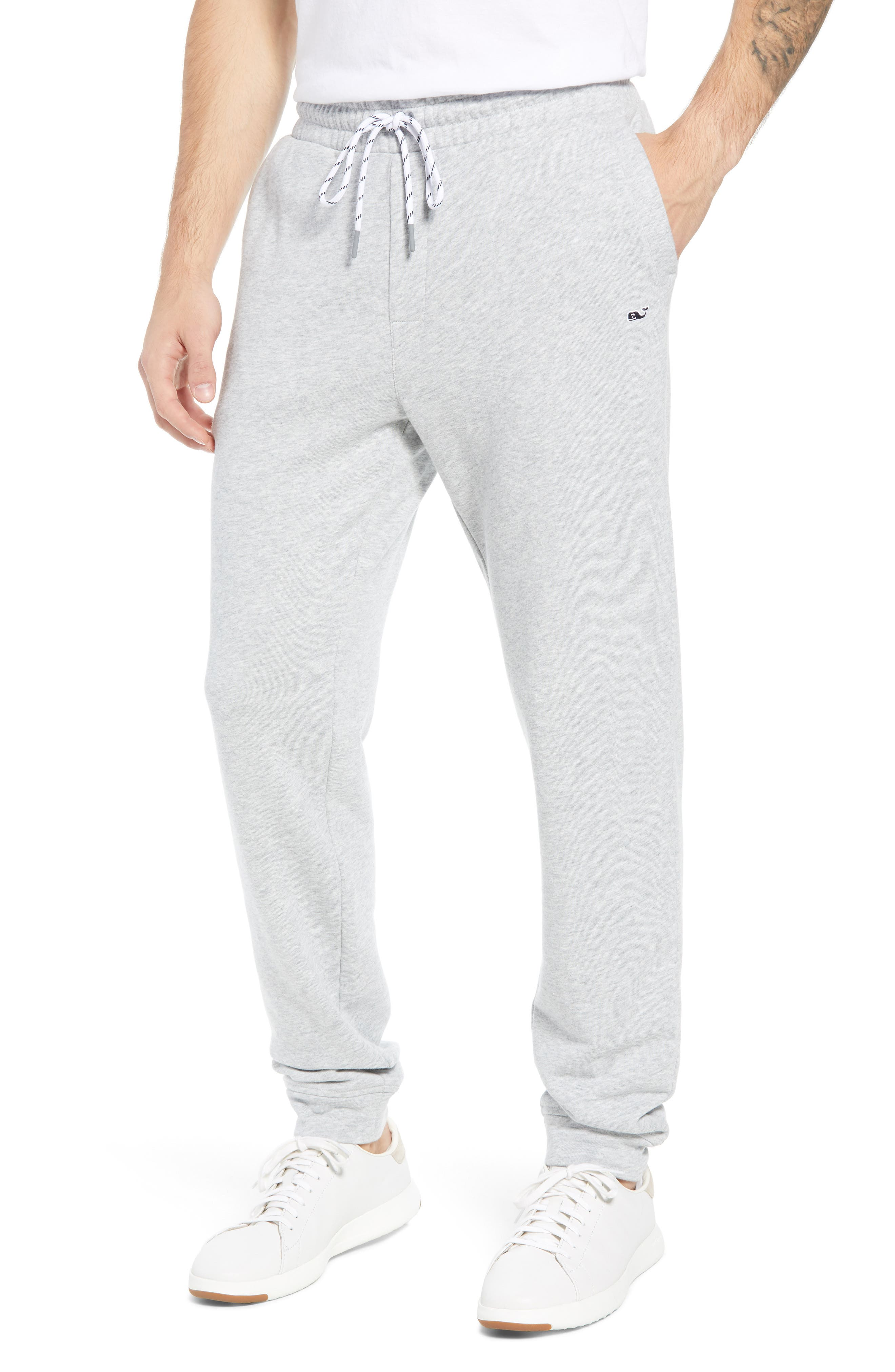 Heritage French Terry Knit Jogger Pants,                             Main thumbnail 1, color,                             GRAY HEATHER