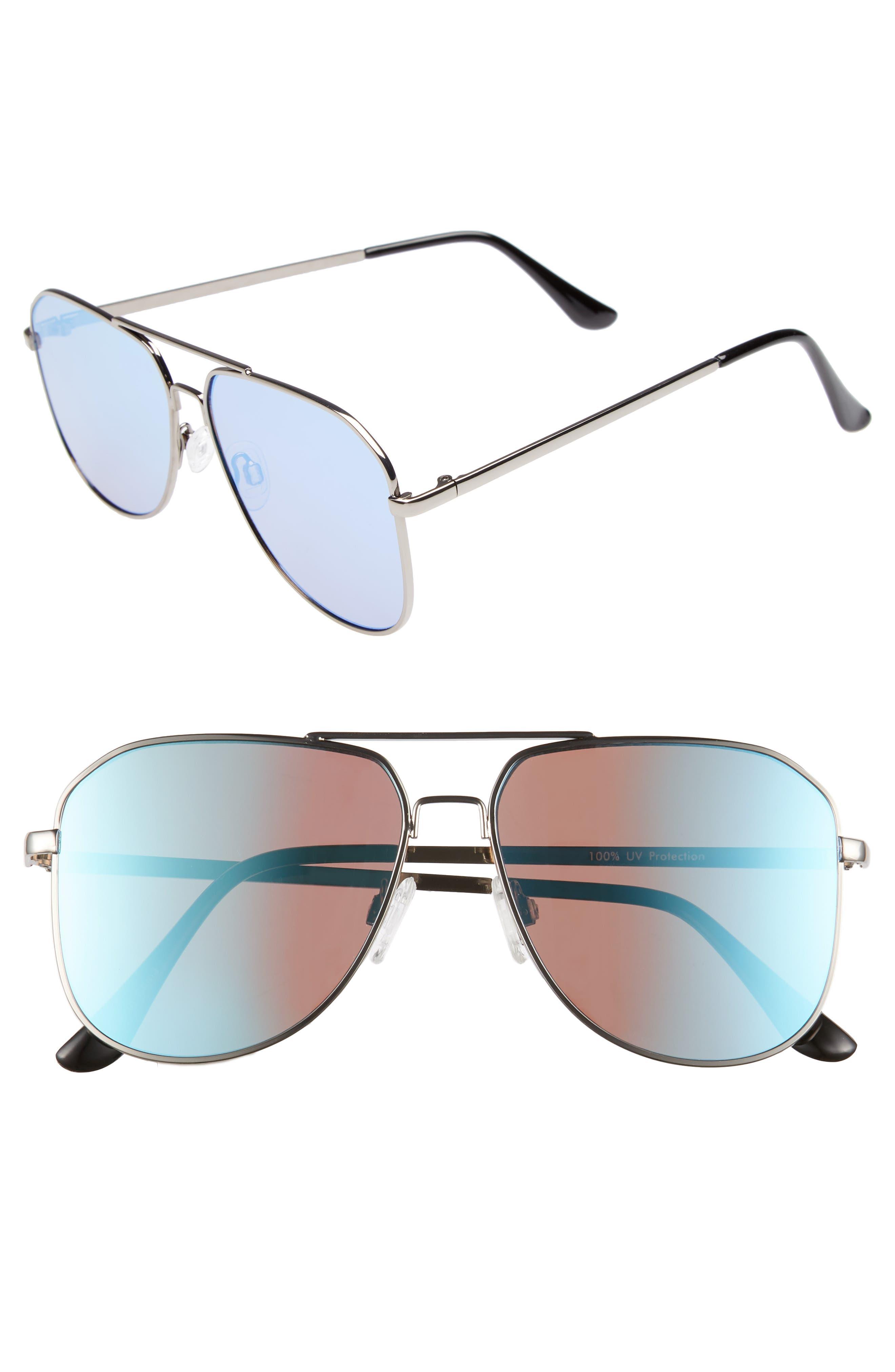 54mm Aviator Sunglasses,                             Main thumbnail 1, color,                             040
