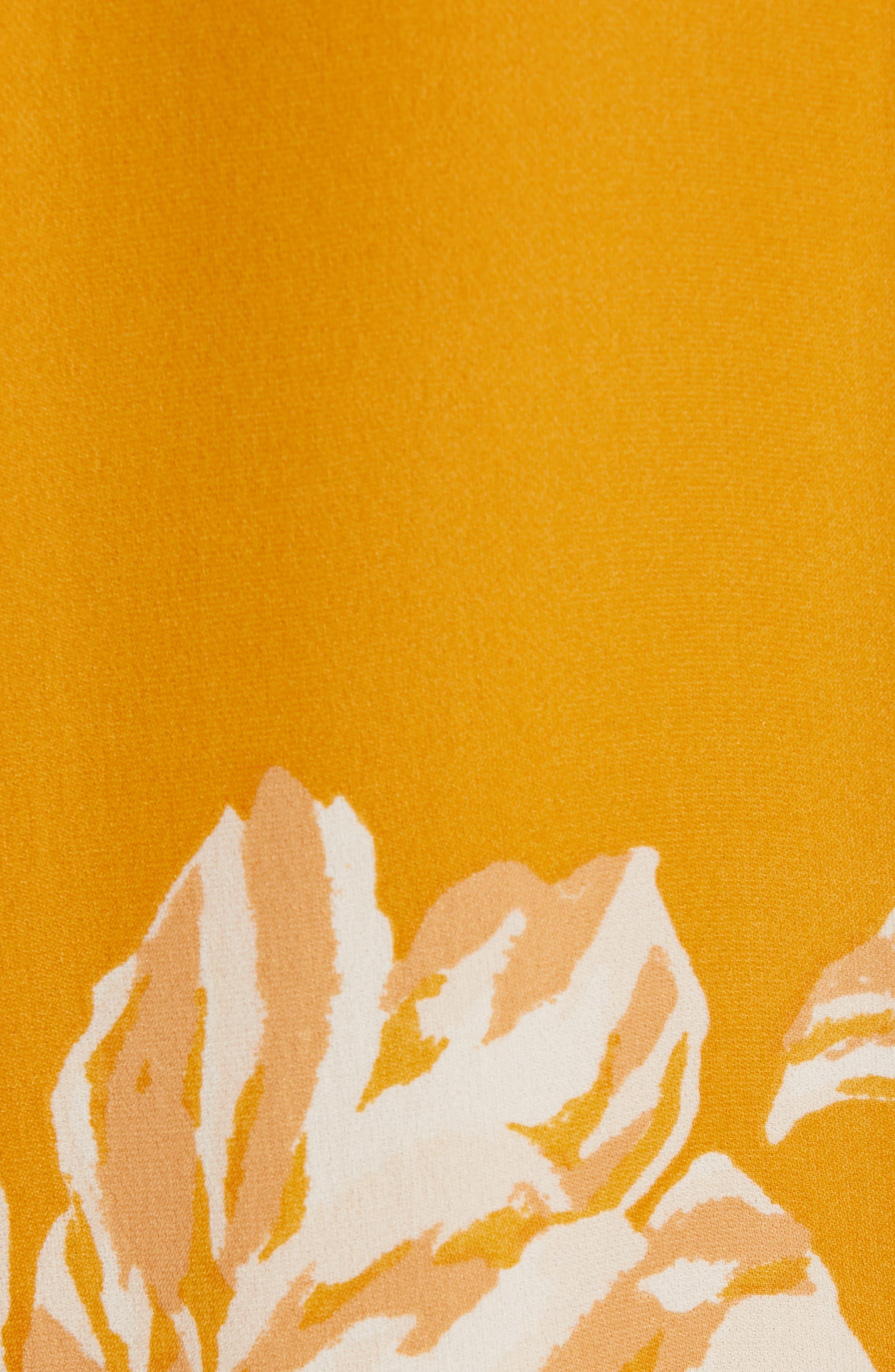 Amaranda Silk Shirtdress,                             Alternate thumbnail 6, color,                             DUSTY GOLD