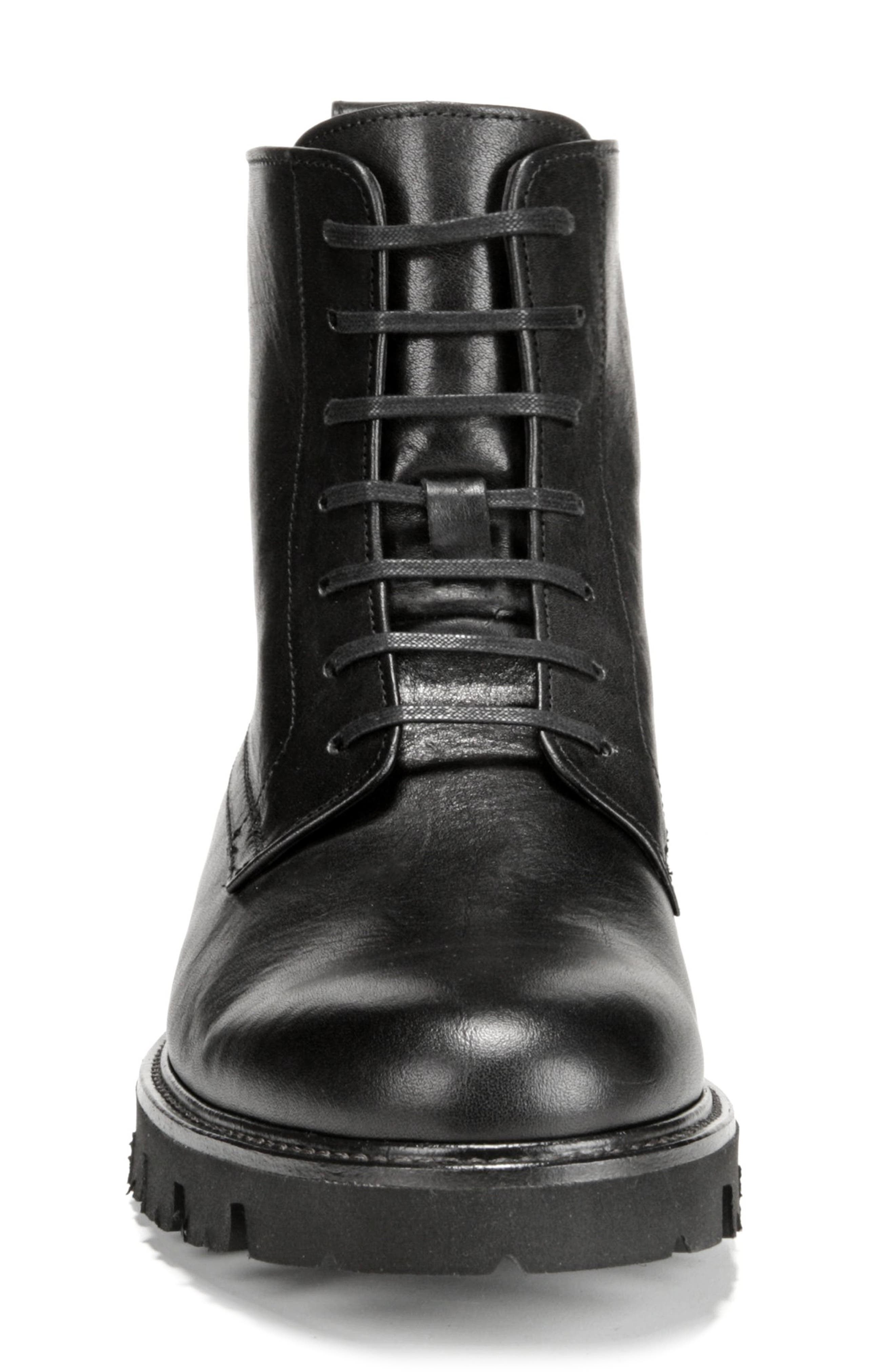 Commander Plain Toe Boot,                             Alternate thumbnail 4, color,                             BLACK