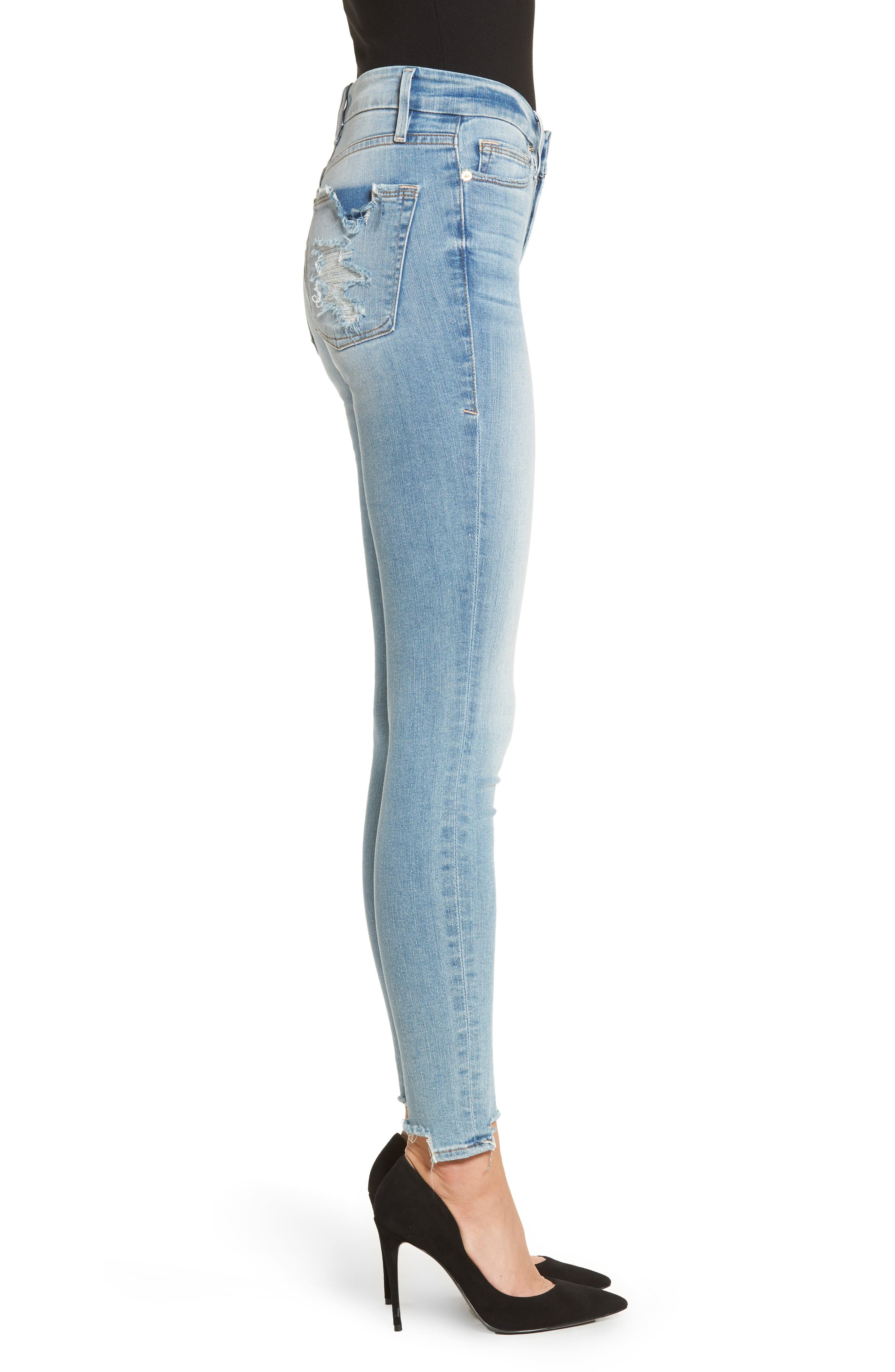 Good Legs High Waist Ankle Skinny Jeans,                             Alternate thumbnail 3, color,