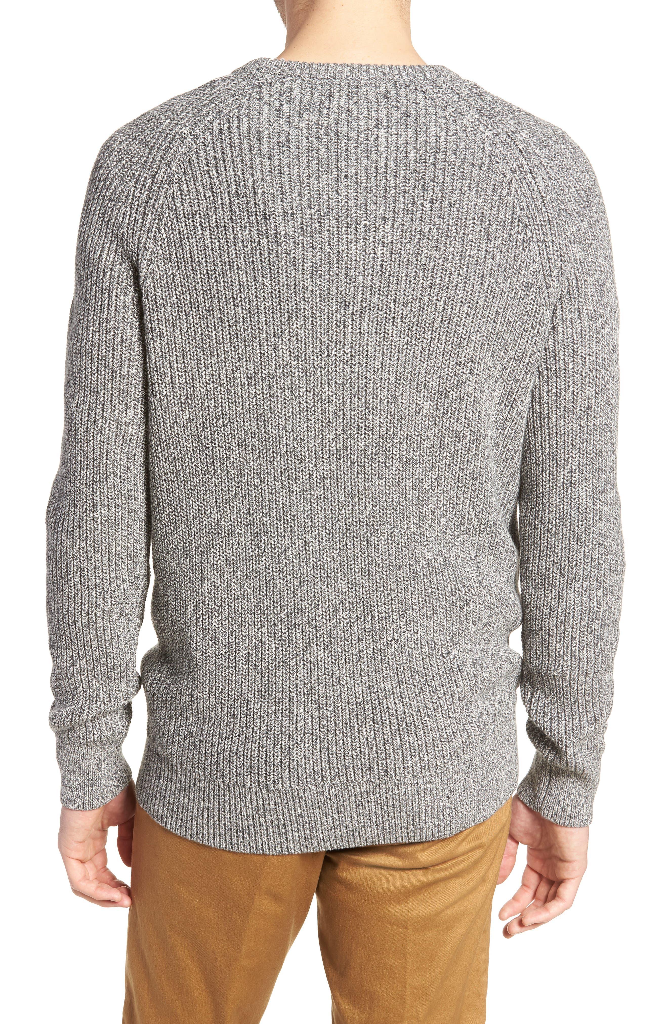 Marled Cotton Crewneck Sweater,                             Alternate thumbnail 2, color,                             020